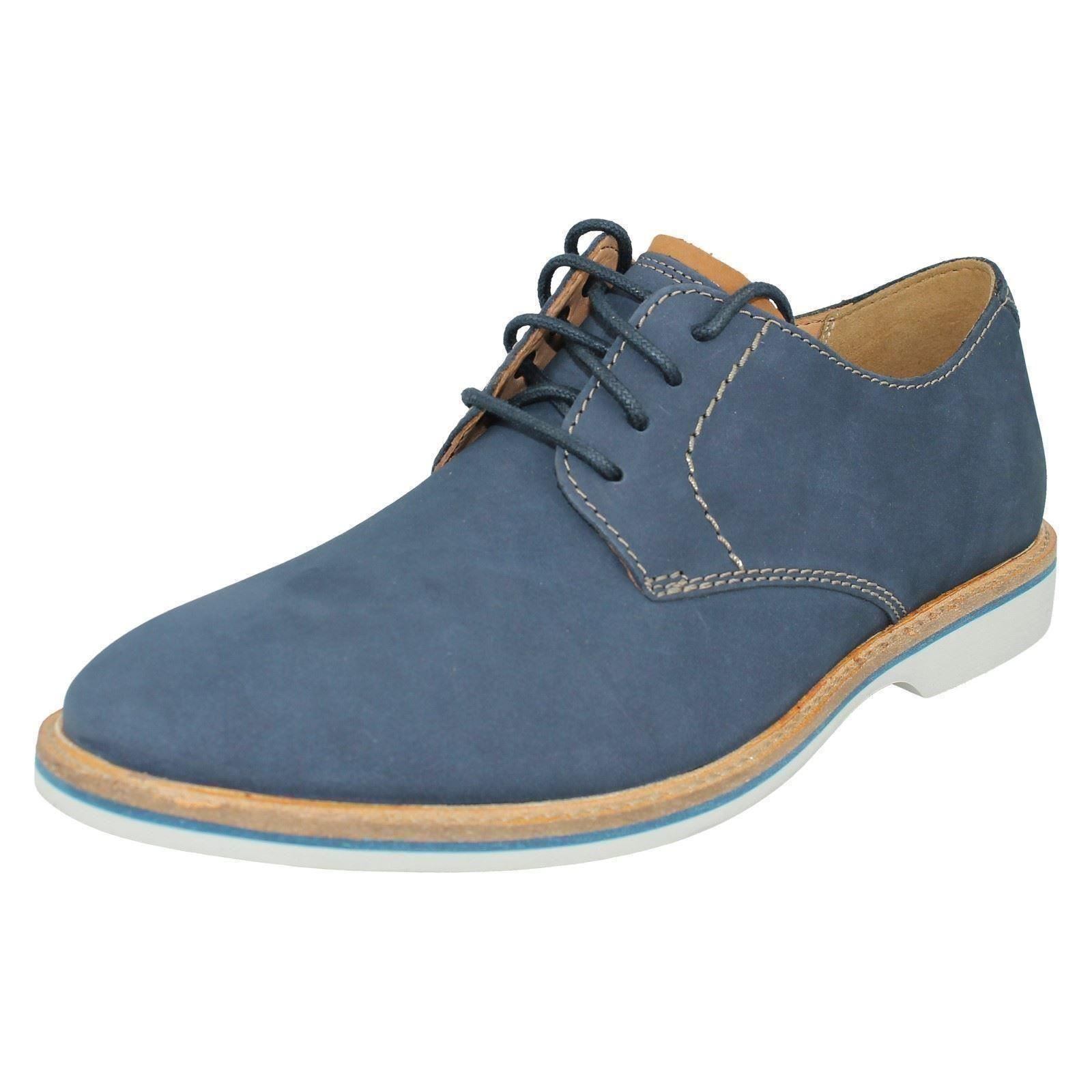 Lace Men's Nubuck stile Shoes Casual Smart Up Atticus Lo Navy Clarks rvwgqEr