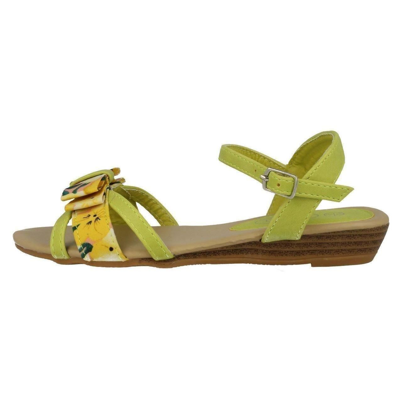 Girls Spot On Summer Sandals H1062 Style ~ K