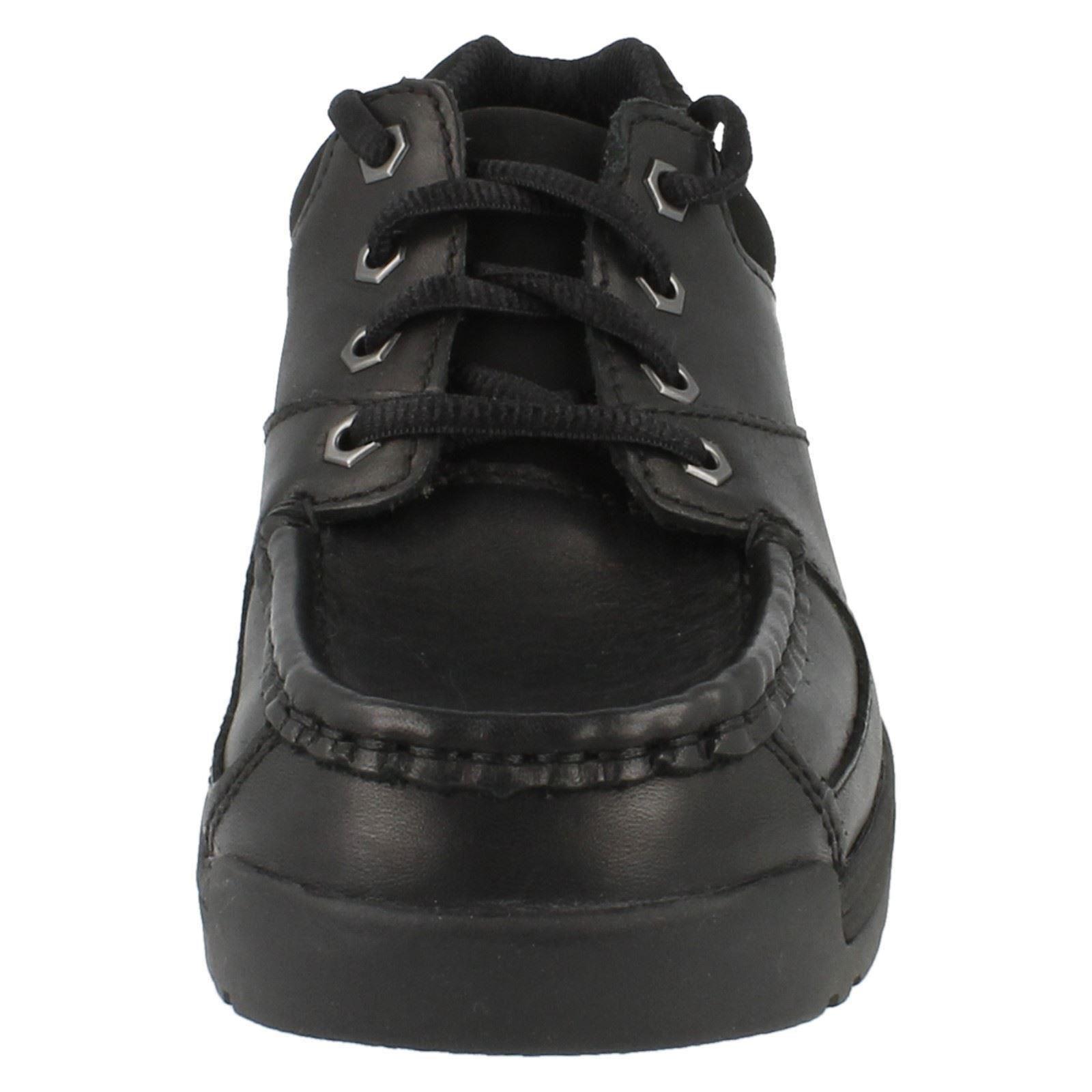 Chicos Clarks Bootleg 'aire Moc' Escuela Zapatos Estilo ~ K