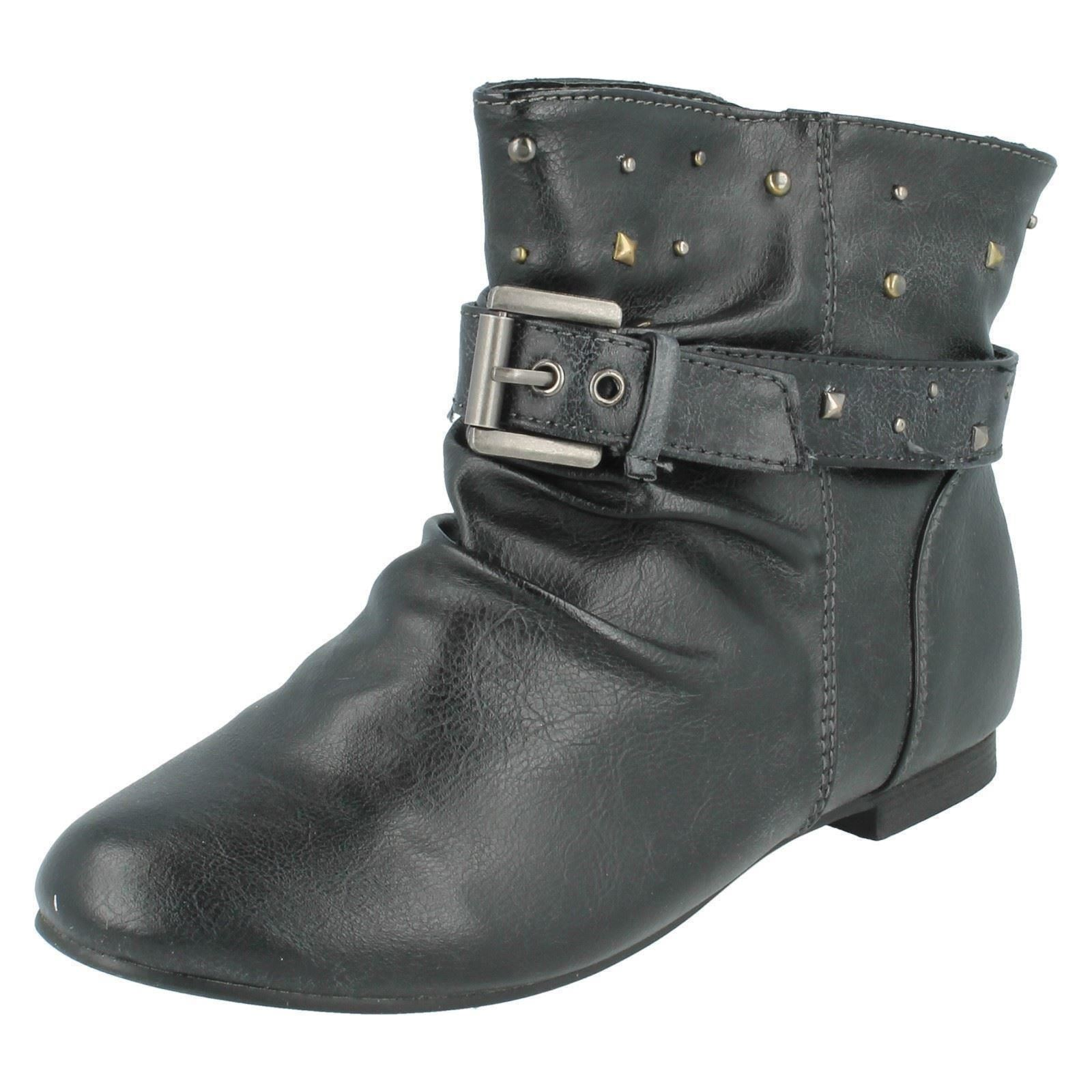 Girls Cutie Qt Ankle Boots With Stud Detail The Style - H4054