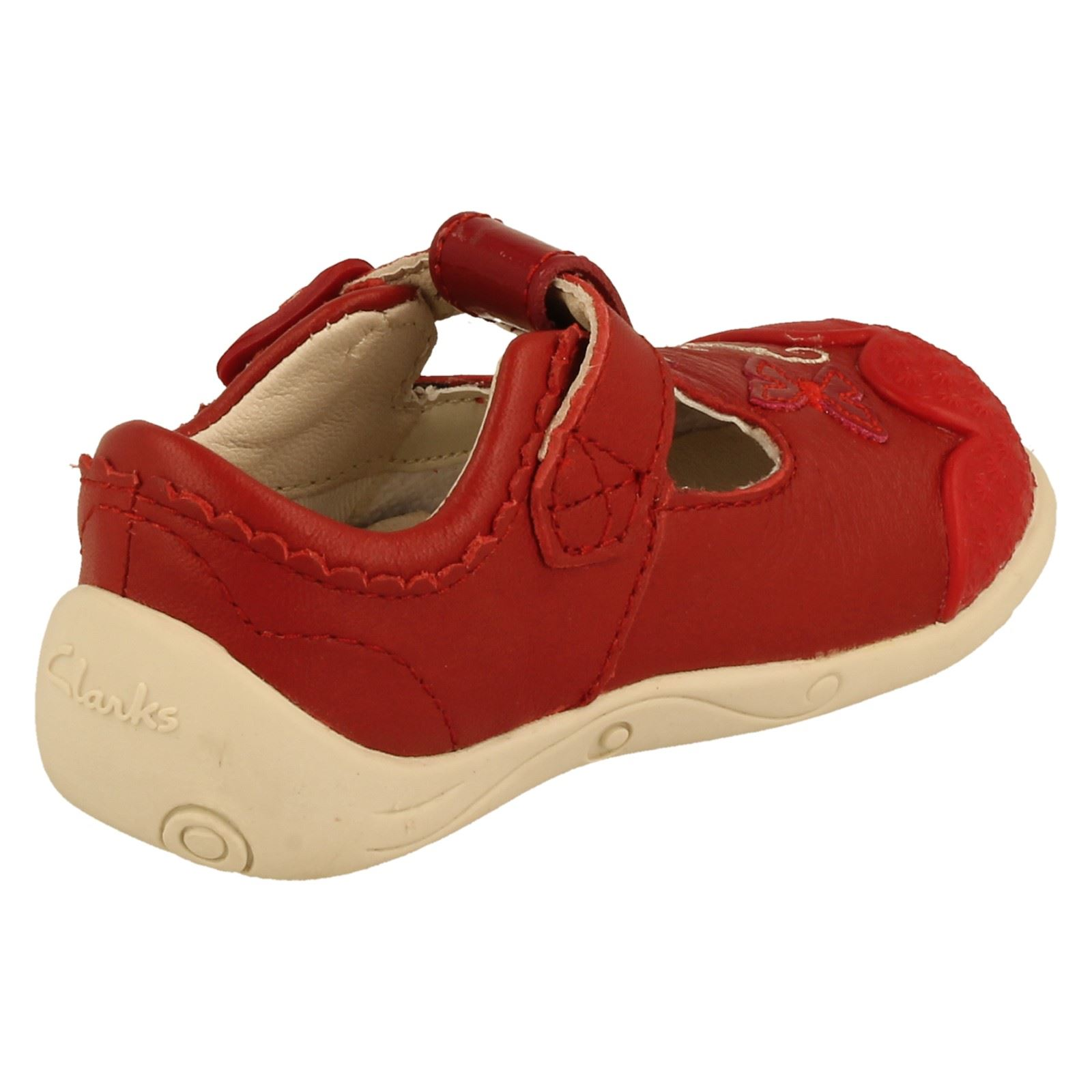 Girls Clarks T-Bar First Shoes Pippy Bay -W