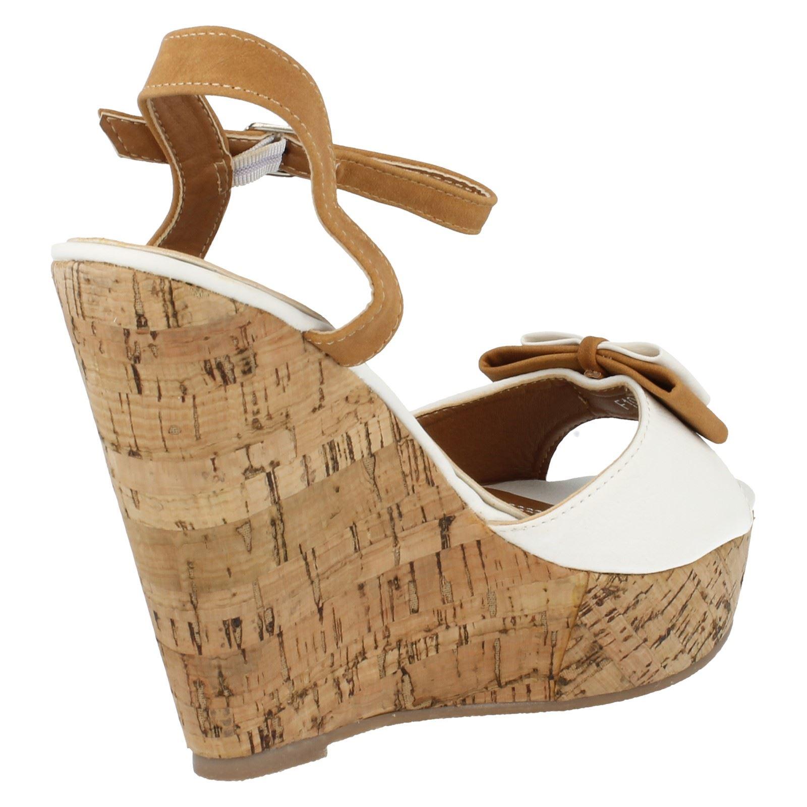Sandalias de cuña señoras de punto en estilo F10131 ~ K