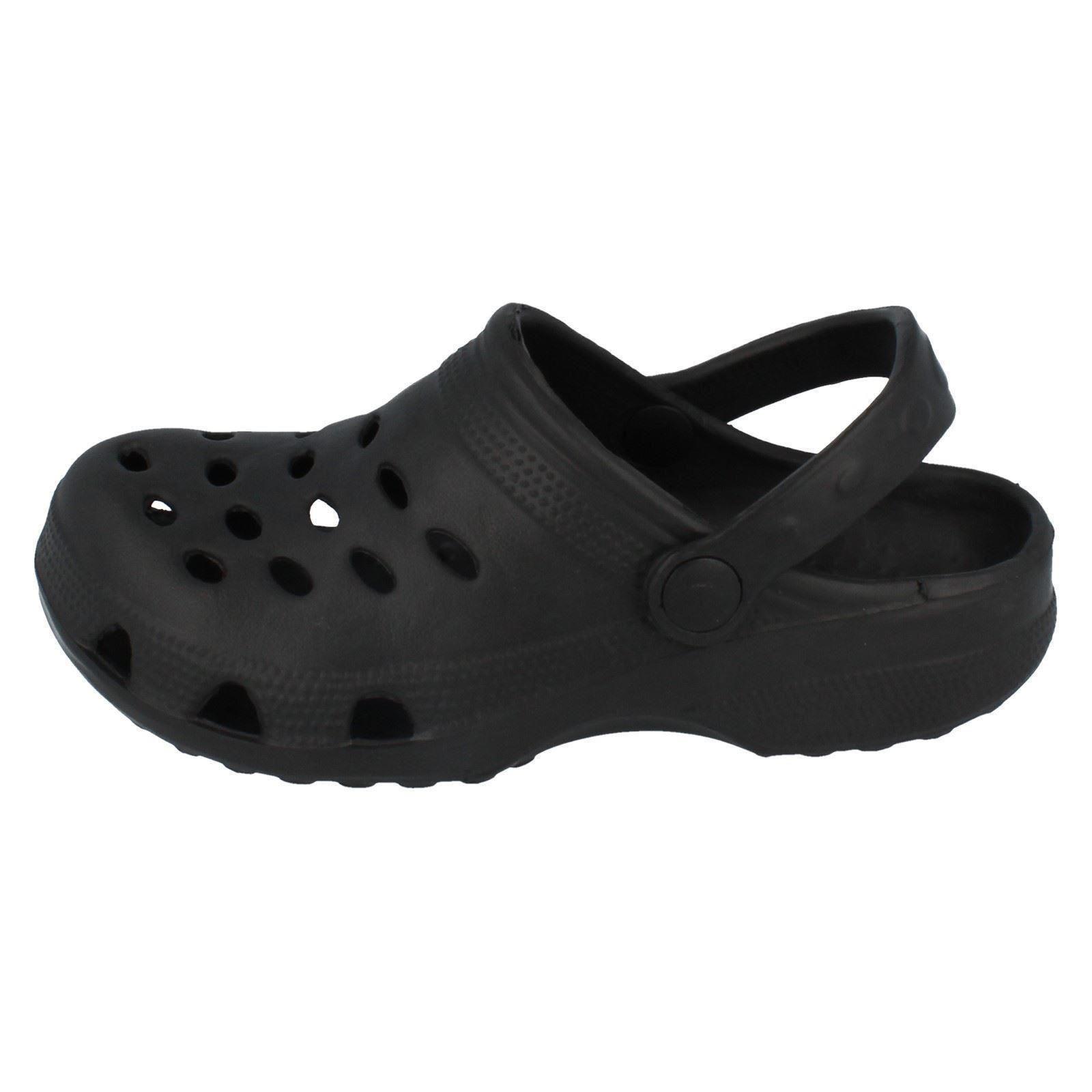 Children's Spot On Plastic Clog Sandals Label X3014 - D