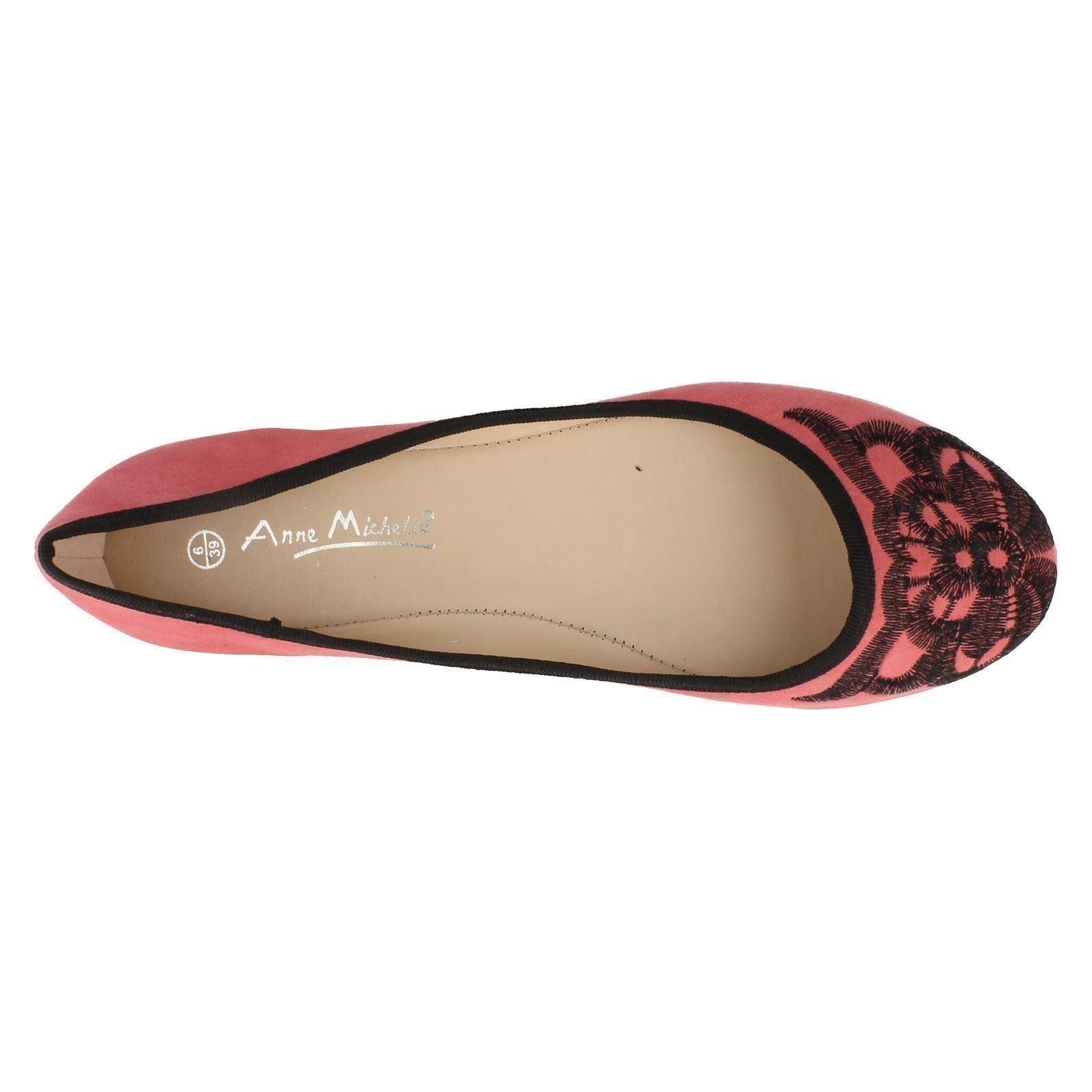 Señoras Anne Michelle Ballerina Pisos « estilo » L4946 £ 9.99