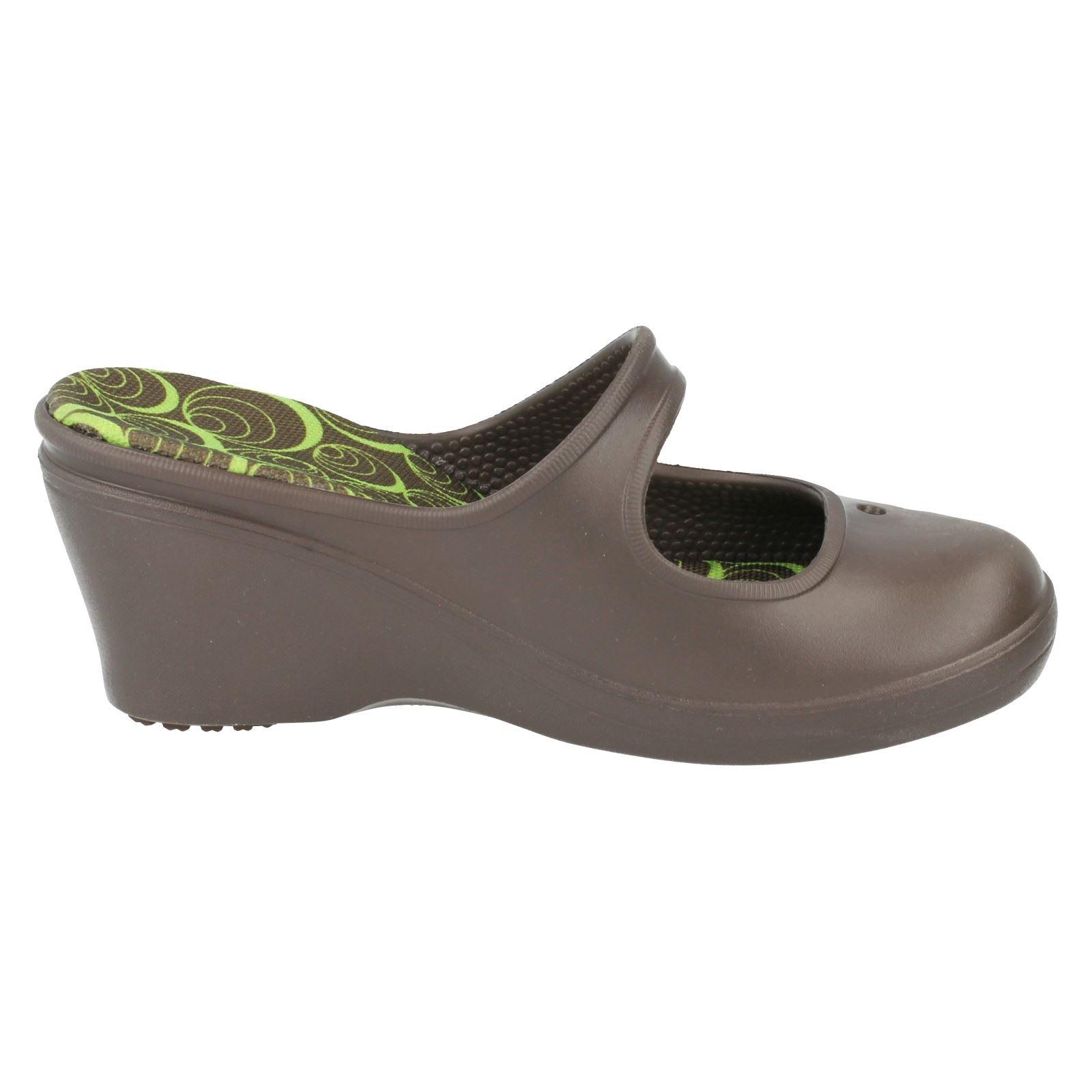damen crocs gummi absatz sandalen frances label k ebay. Black Bedroom Furniture Sets. Home Design Ideas
