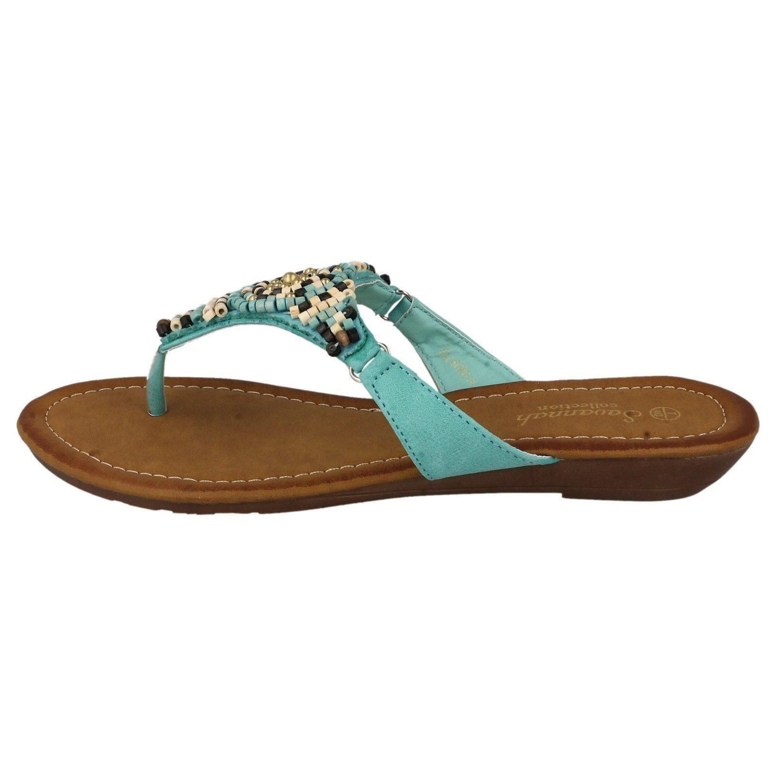 Señoras Savannah f0887 Toe Post Sandalia