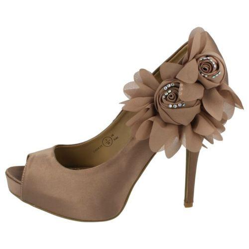 Damas Anne Michelle Peep Toe Noche Zapatos ~ K