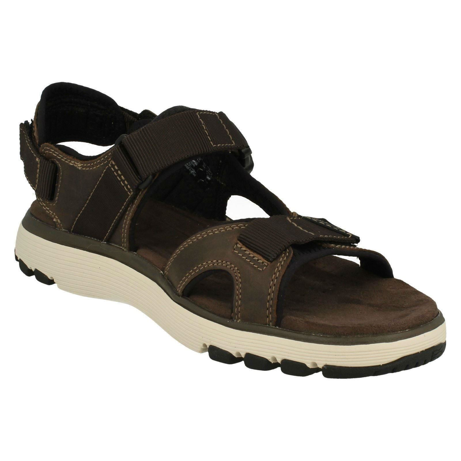 Men's Unstructured by Label Clarks Casual Strapped Sandals Label by - Un Trek Bar 1d0985