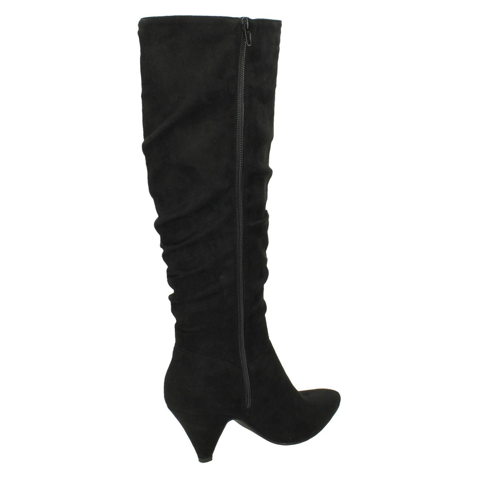 Ladies Spot Knee Boots ~n High Style F5r0898 On Black rPrqpwdfg