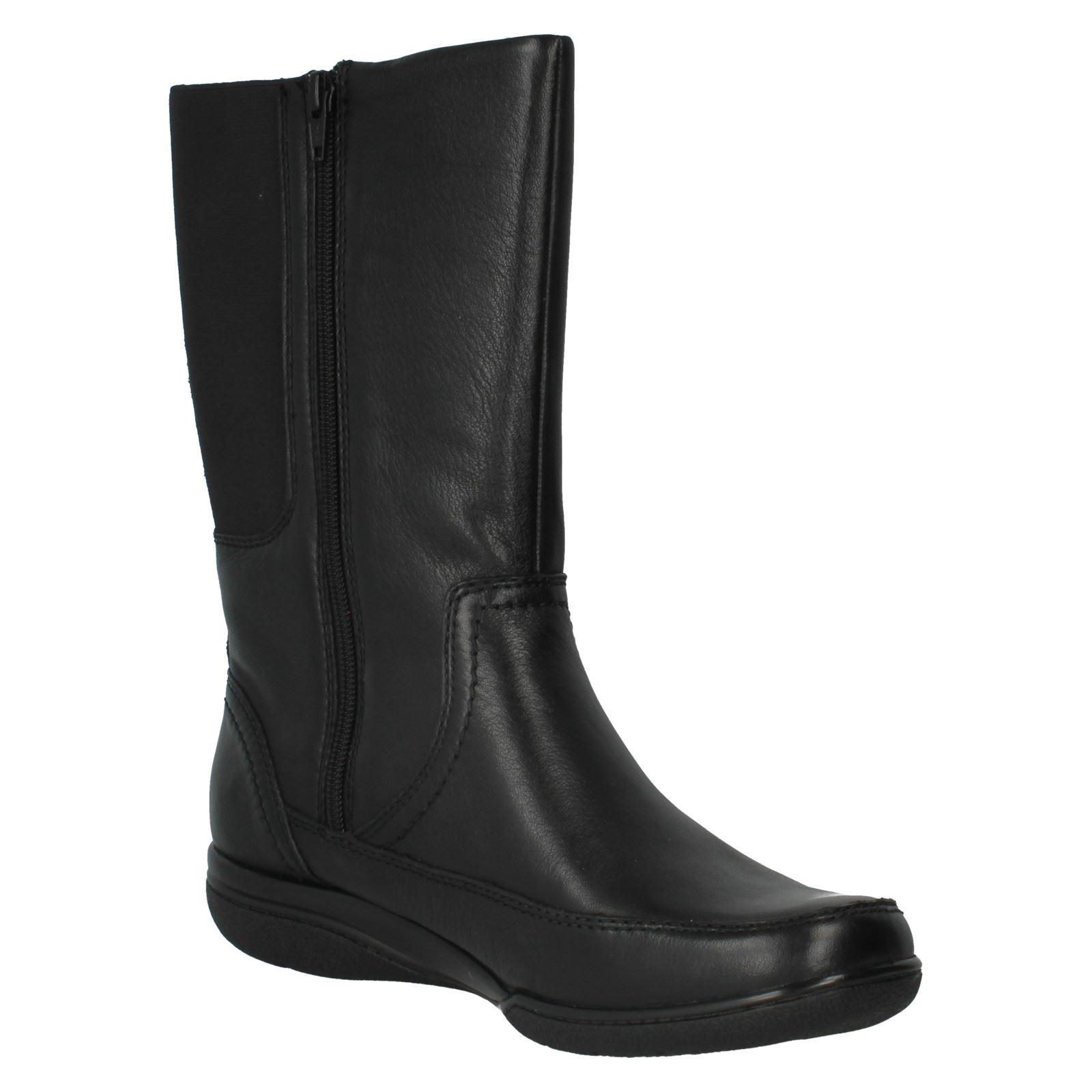 Ladies Clarks Casual Fasten Boots Style - Kearns Rain