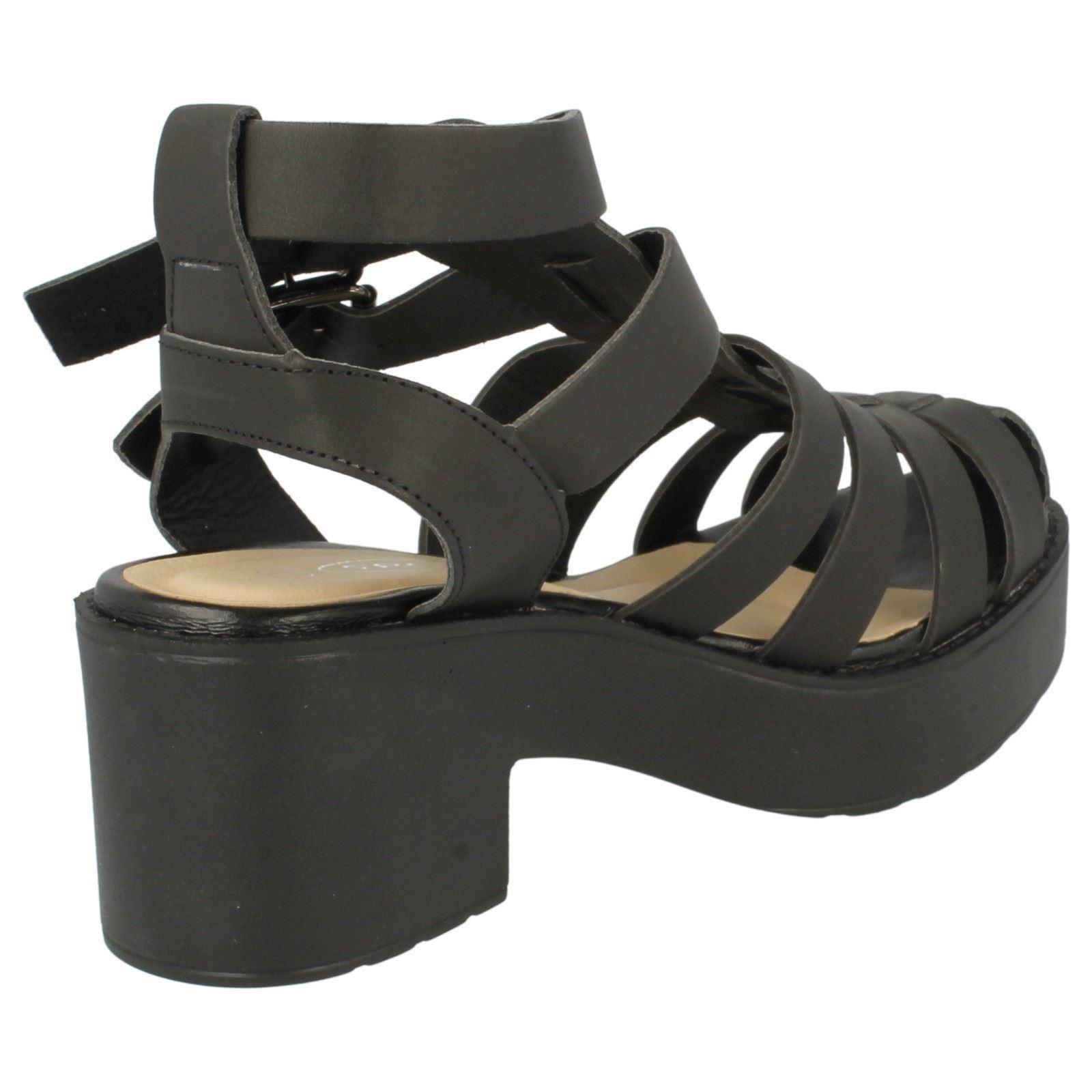 Girls Spot On Block Heel Sandals H1048 Label ~ K