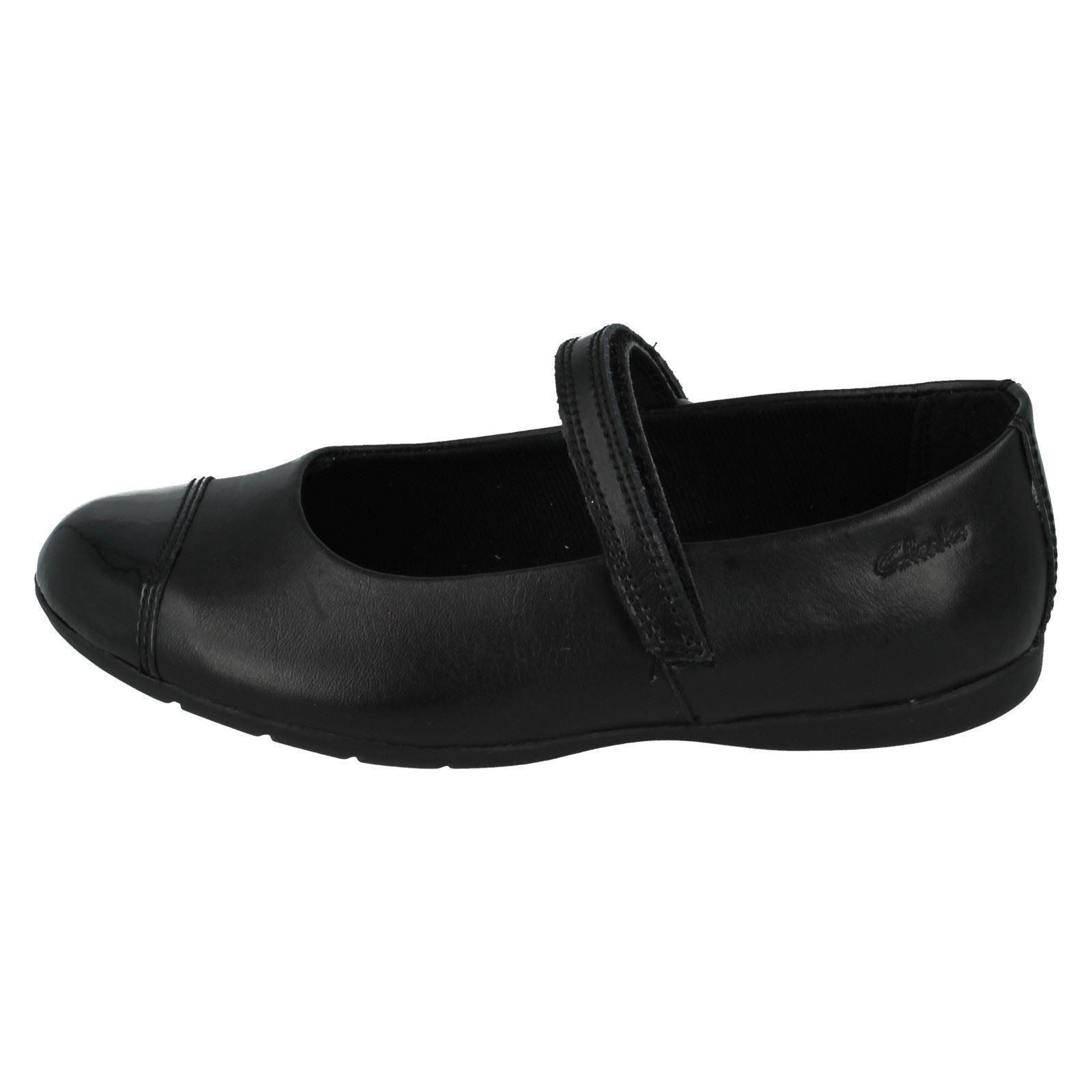Girls Clarks Dance StepvSmart Leather School Shoes ~K