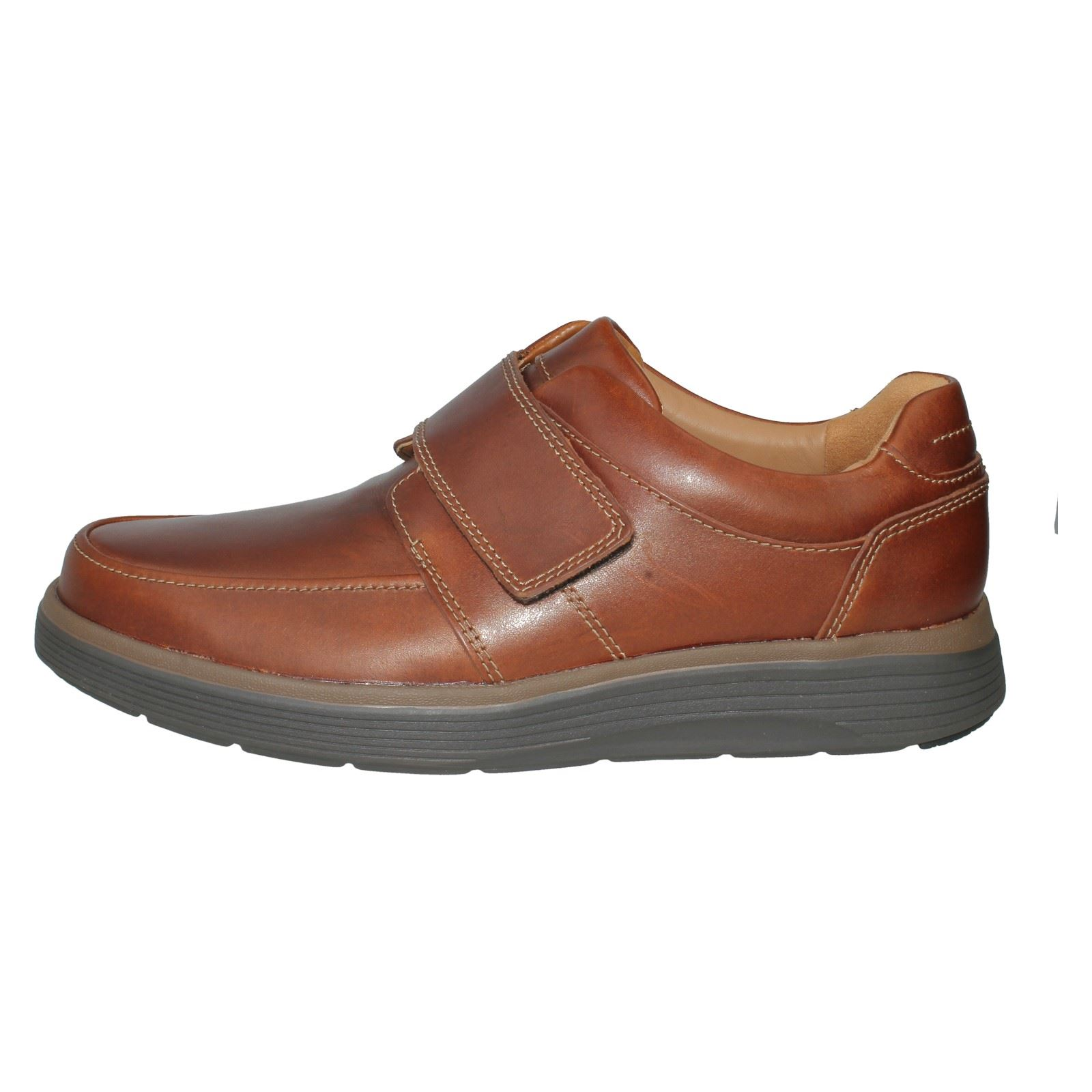 Mens Unstructured by Clarks Leather Casual Shoes Style Style Style - Un Abode Strap 9900a5