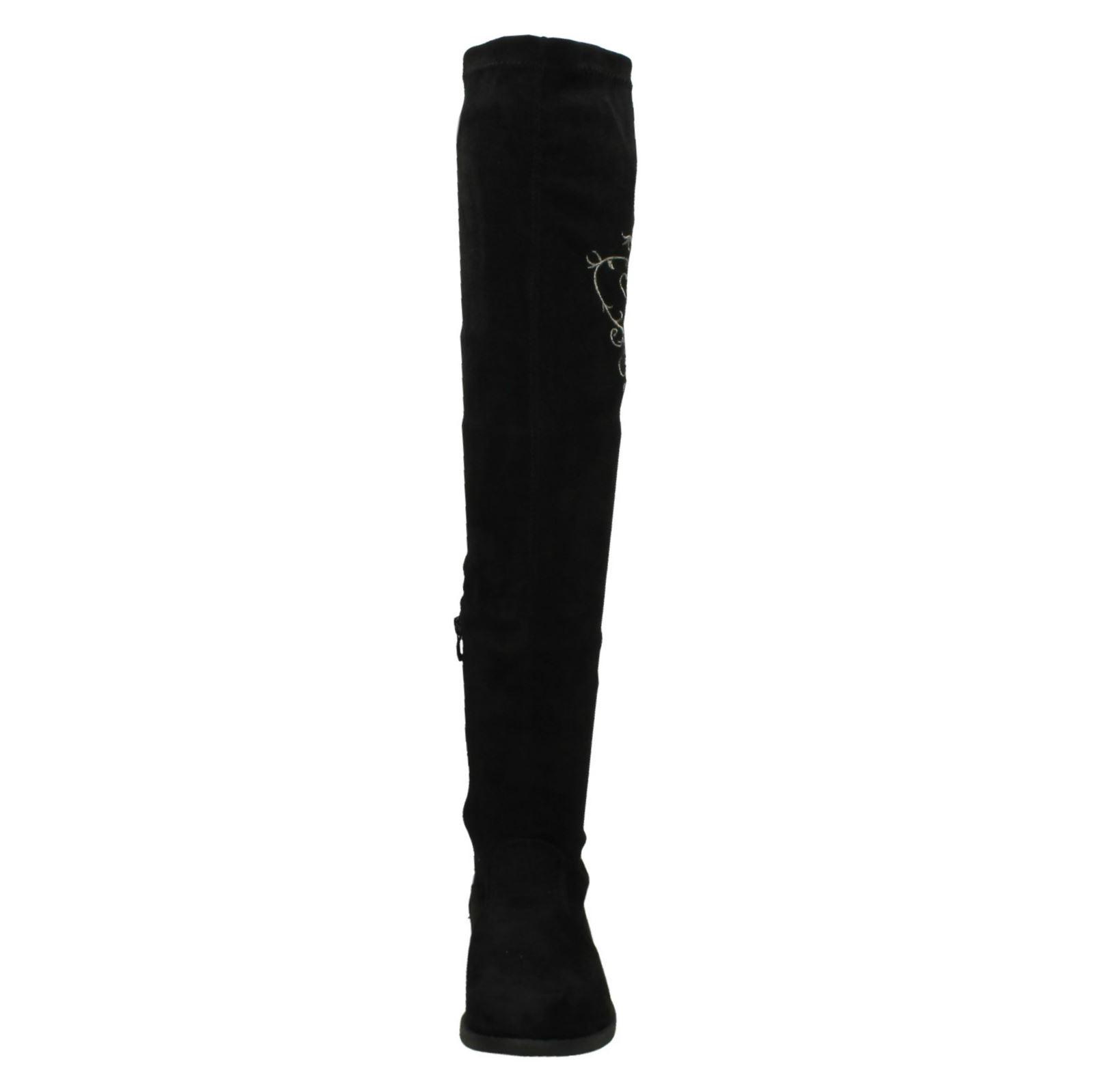 Black Long F50872 Spot On Ladies Label Boots OY7YFnU