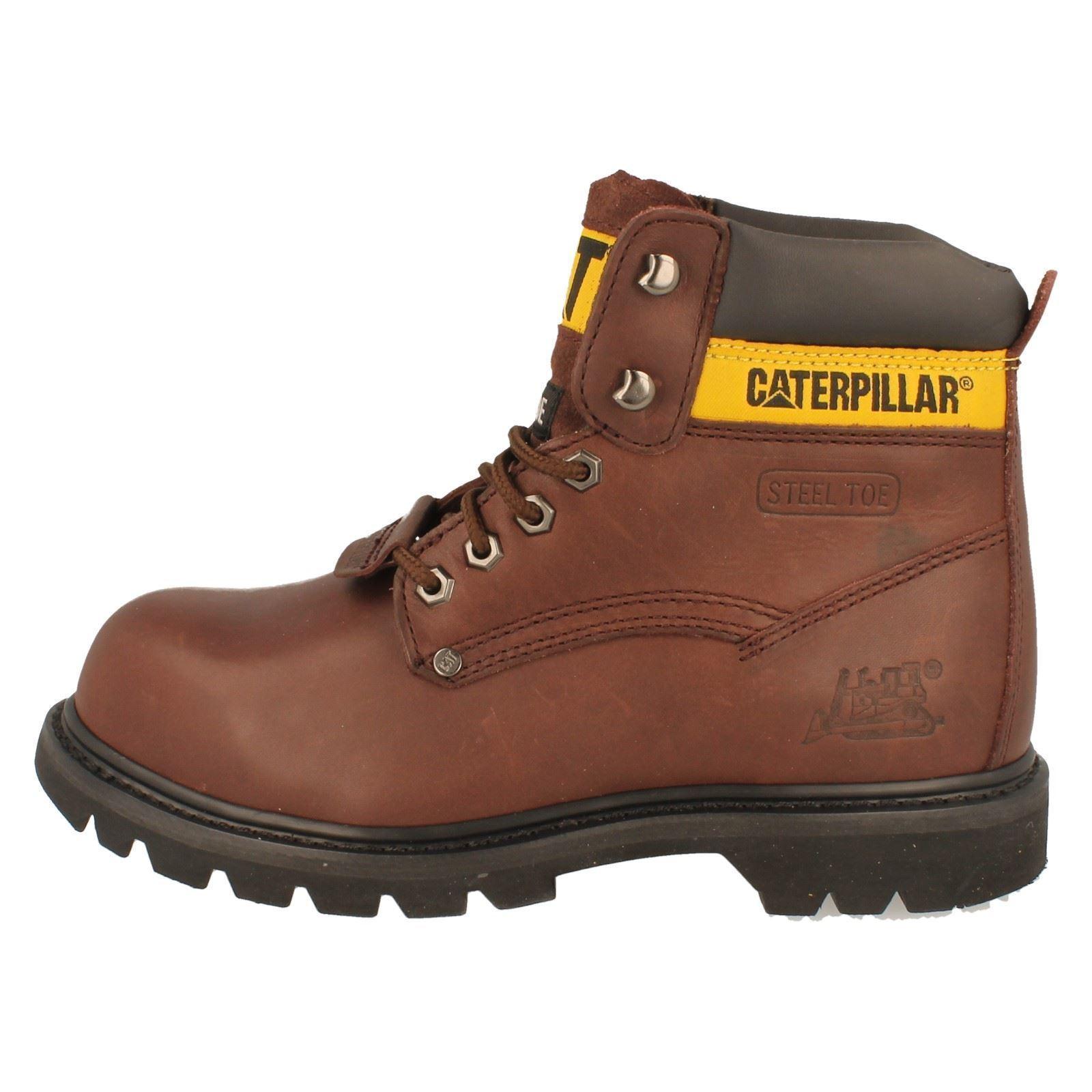 Para Hombre Caterpillar Puntera De De Acero Botas De De Trabajo De Seguridad Del Estilo-Sheffield 6d9167