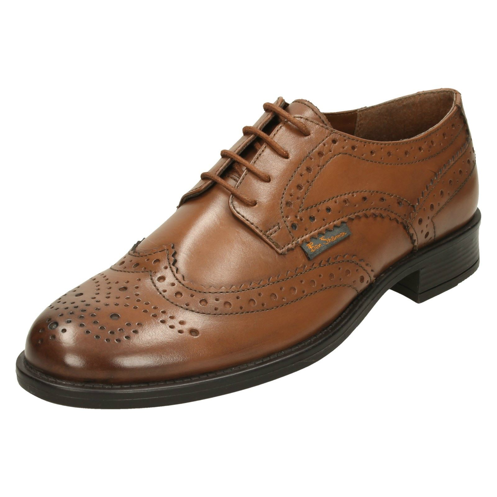 825754fdf29 Ben Sherman Simpson Burnished Tan Leather Brogue Shoes UK 7 EU 41. About  this product. Picture 1 of 7  Picture 2 of 7 ...