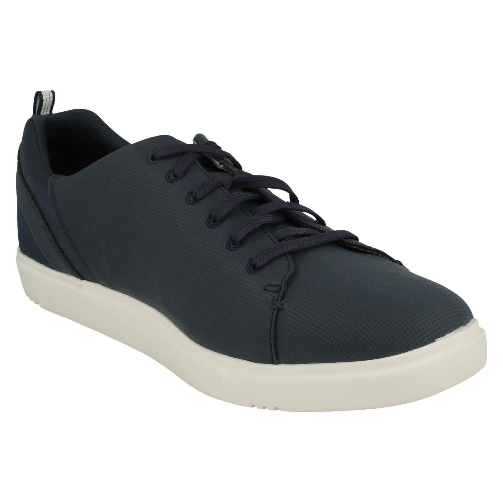Men's Clarks Cloudsteppers Lace Up Trainer Shoes Style - Step Verve Lo