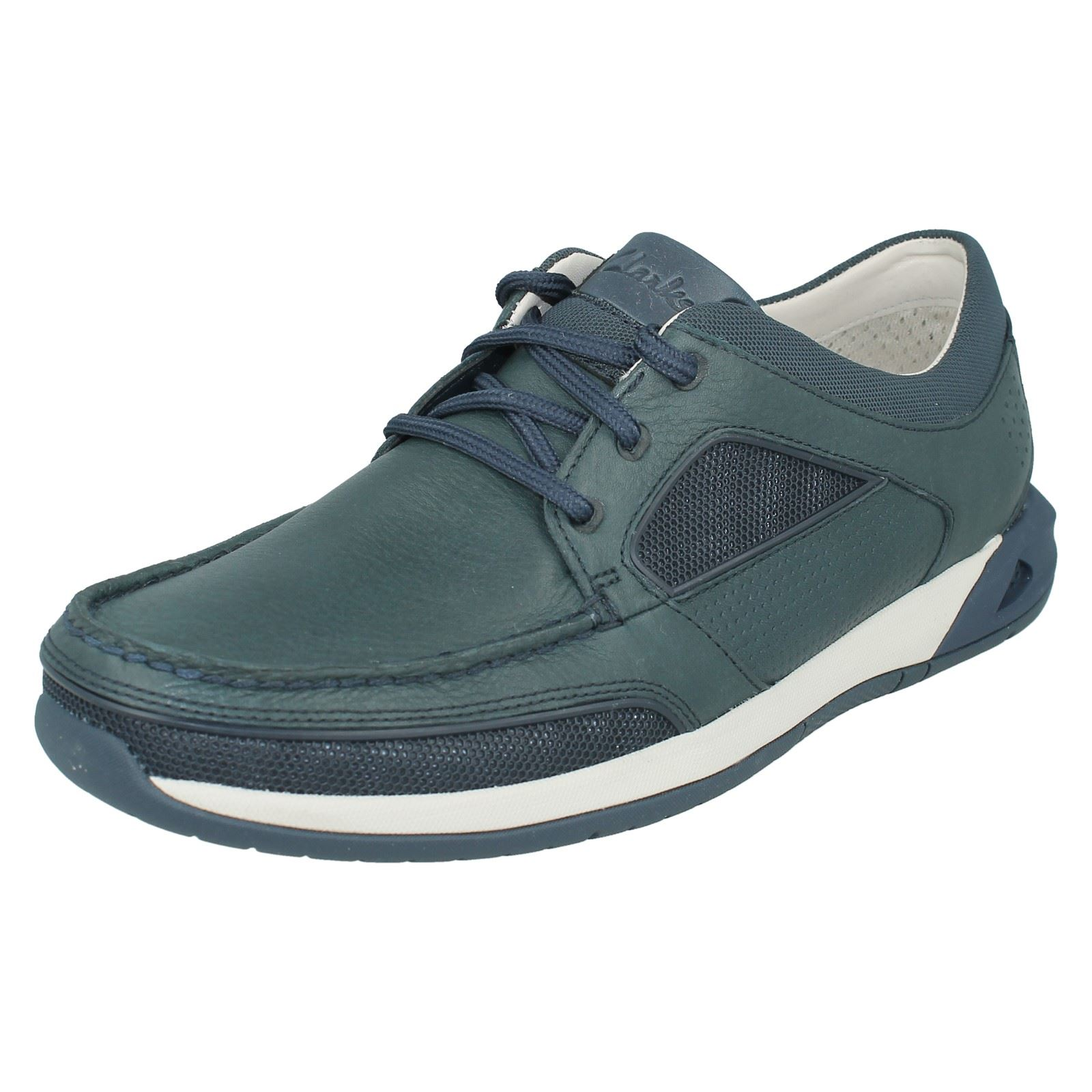 Men's Clarks Casual Lace Up Boat Style Shoes Ormand Sail