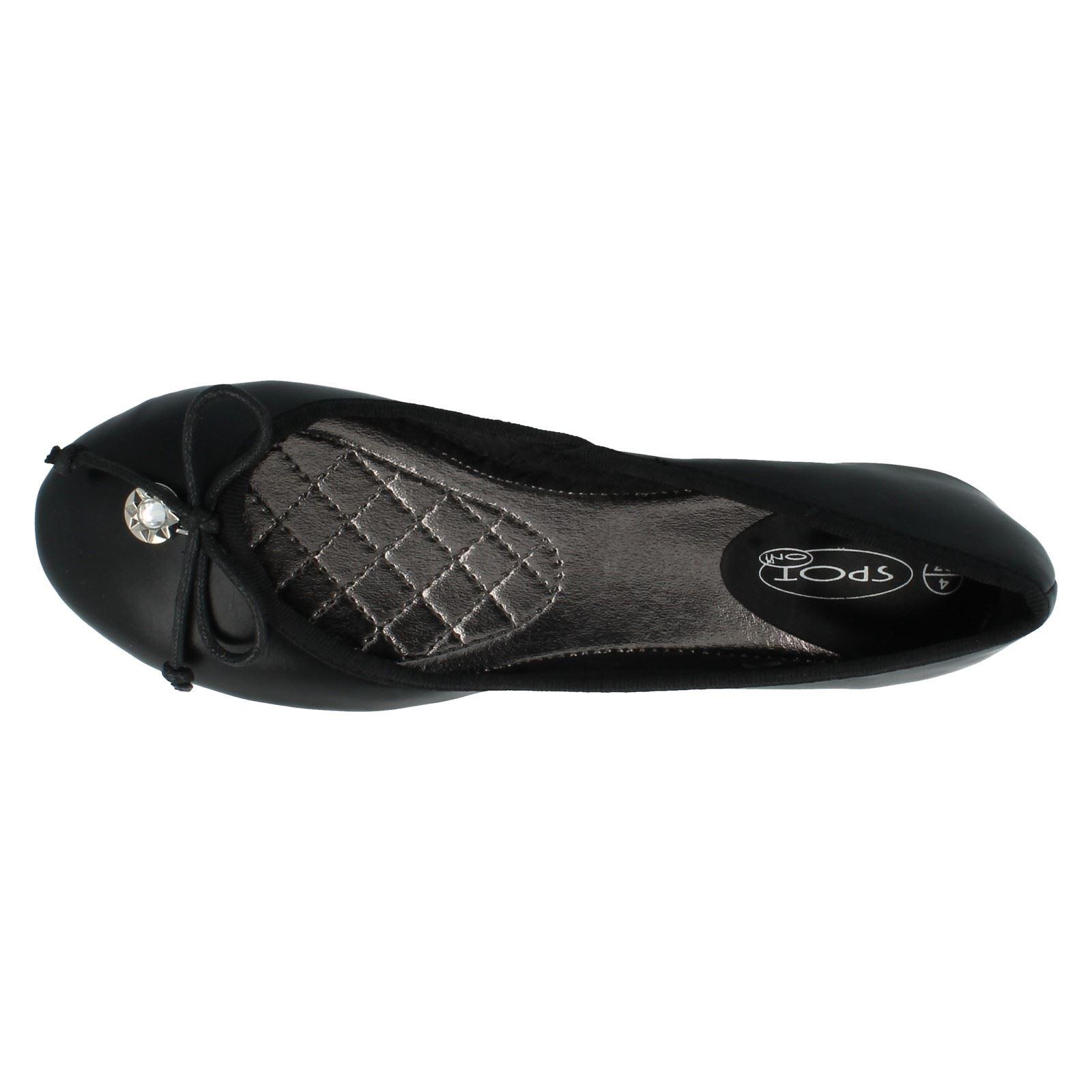 Señoras de punto en Ballerina Zapatos Planos f80014