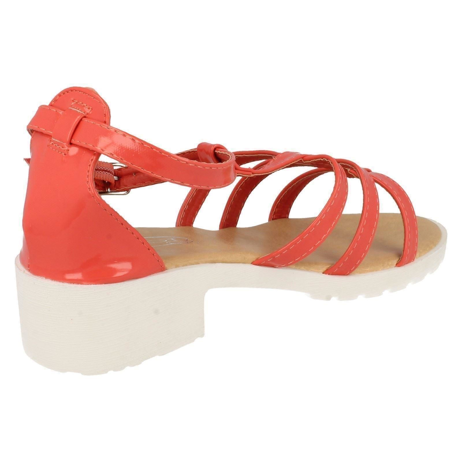 Girls Spot On Heeled Strappy Sandals H1065 ~ N
