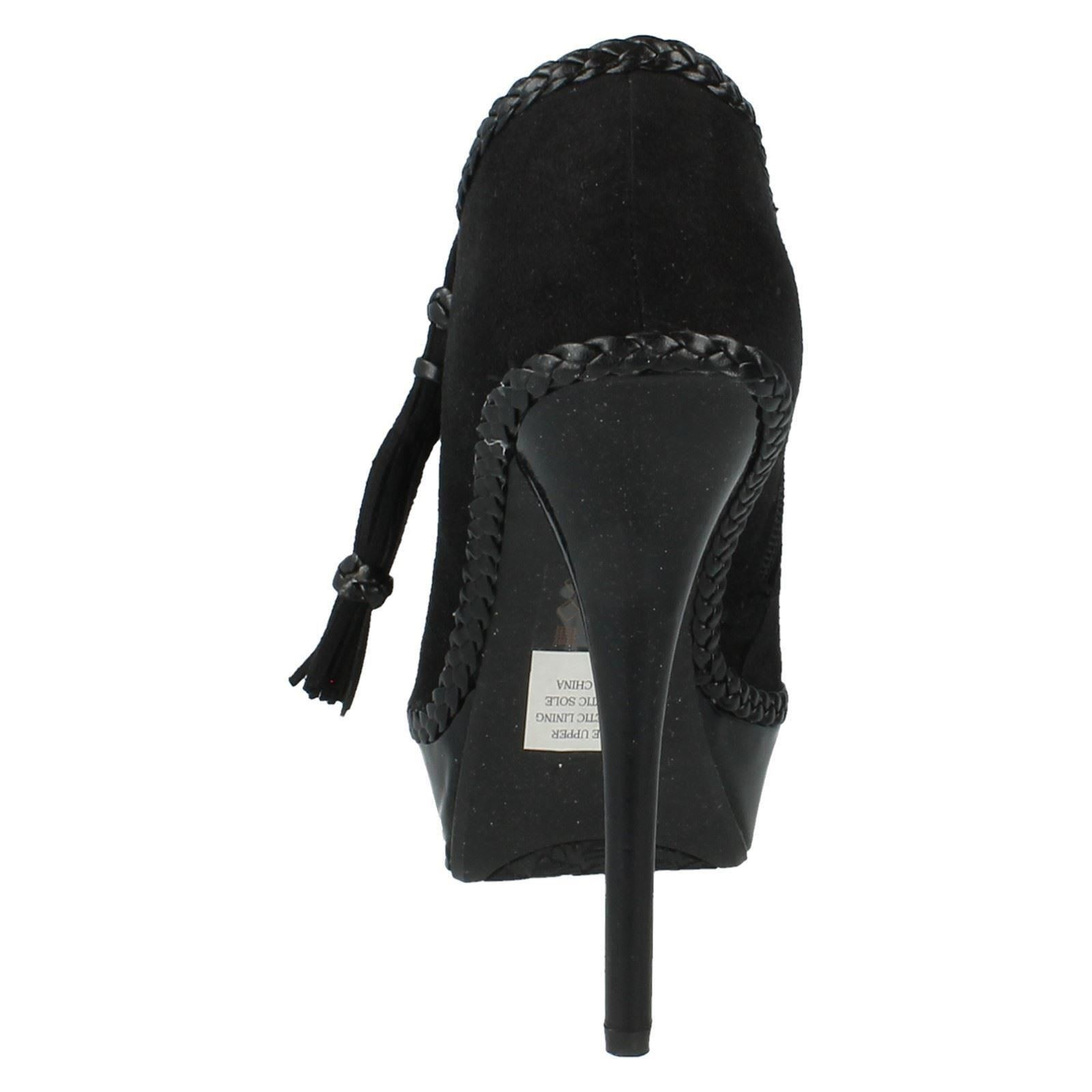 F5769 On Spot Boots Ladies Black Heeled Ankle XzgqxWFAw