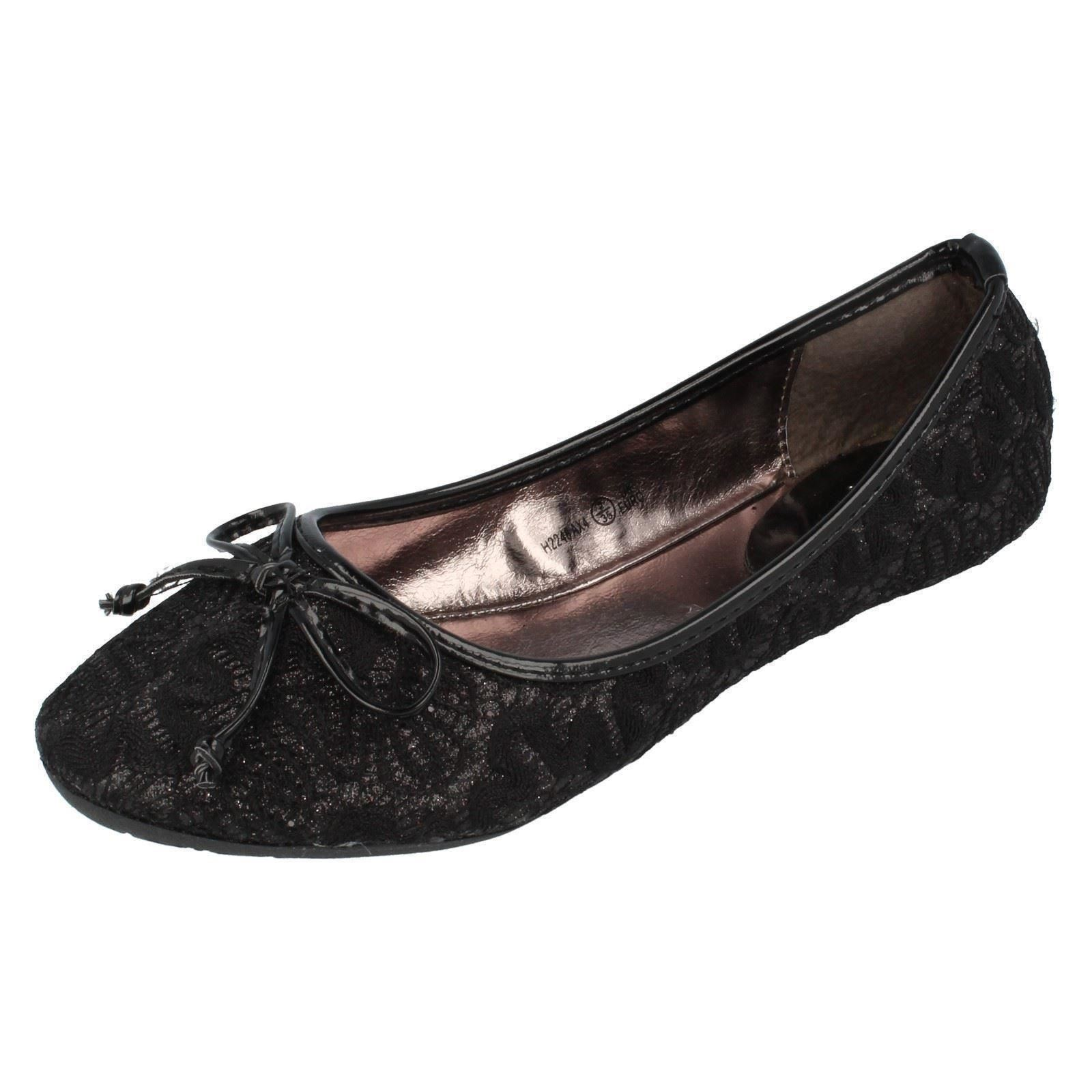 Zapatos Planos Chicas Cutie Etiqueta H2248 ~ N