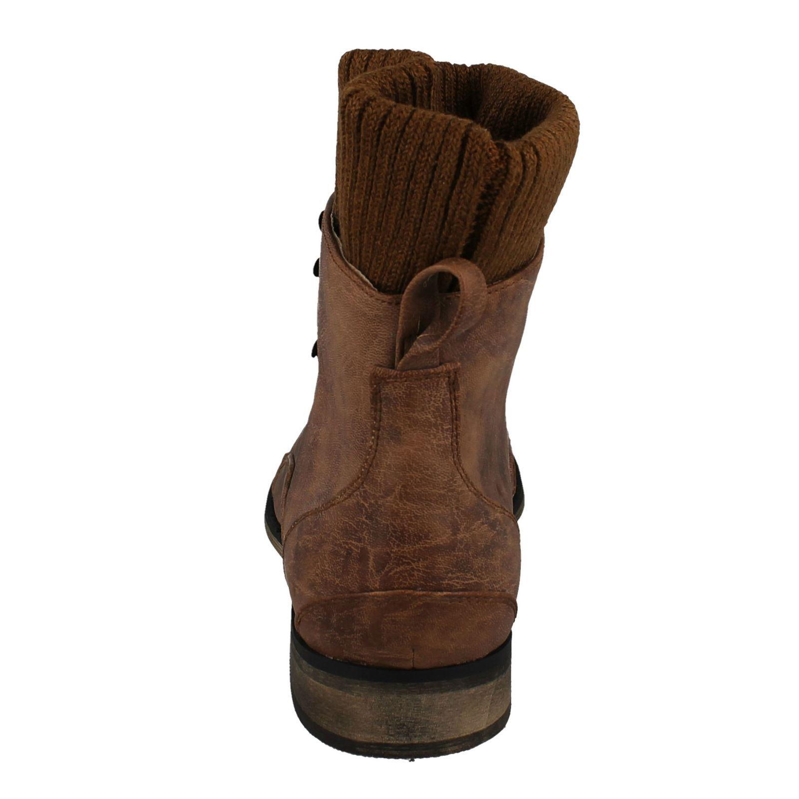 Botas al tobillo señoras de punto en el estilo-F5R792