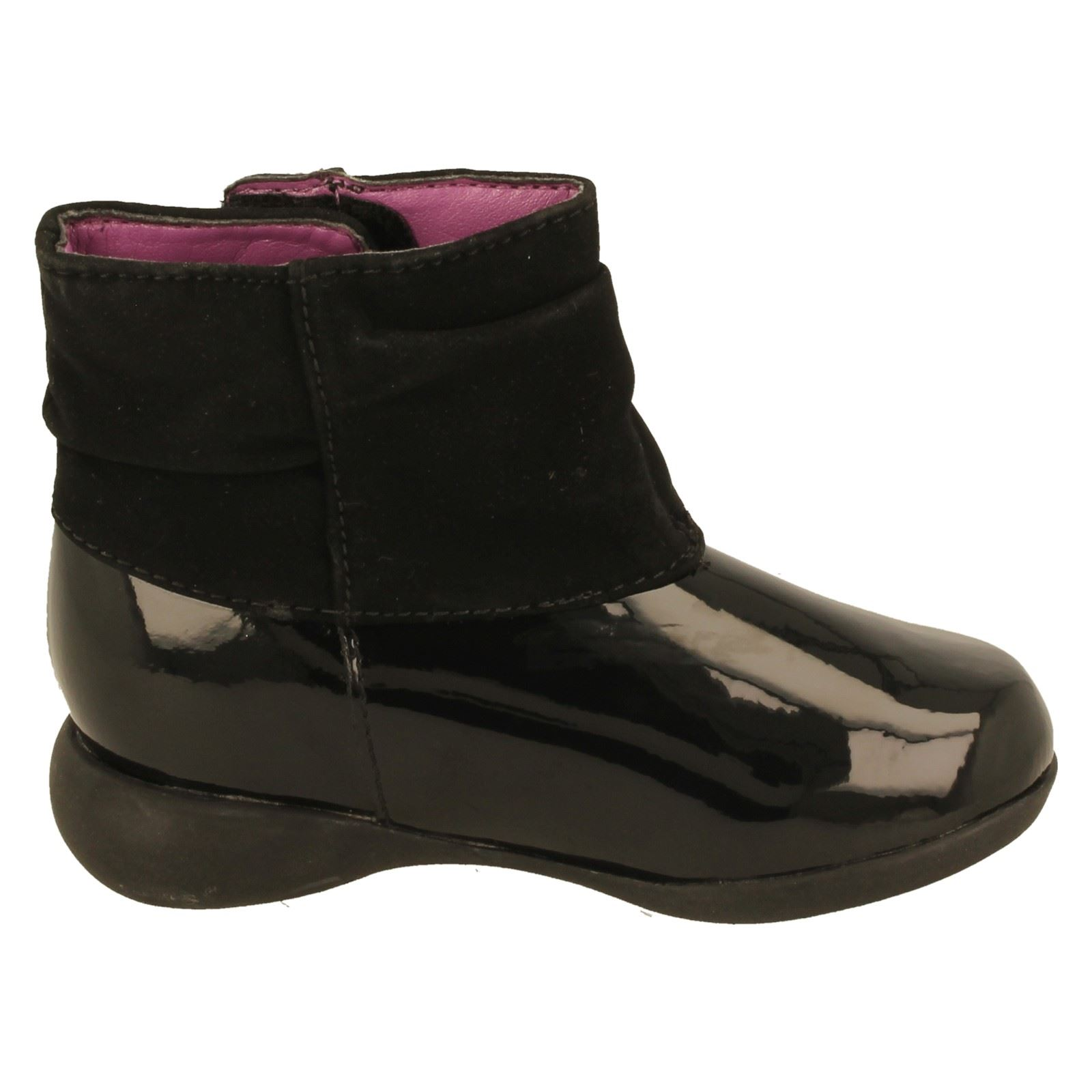 Girls Clarks First Ankle Boots Dolly Mixture -W