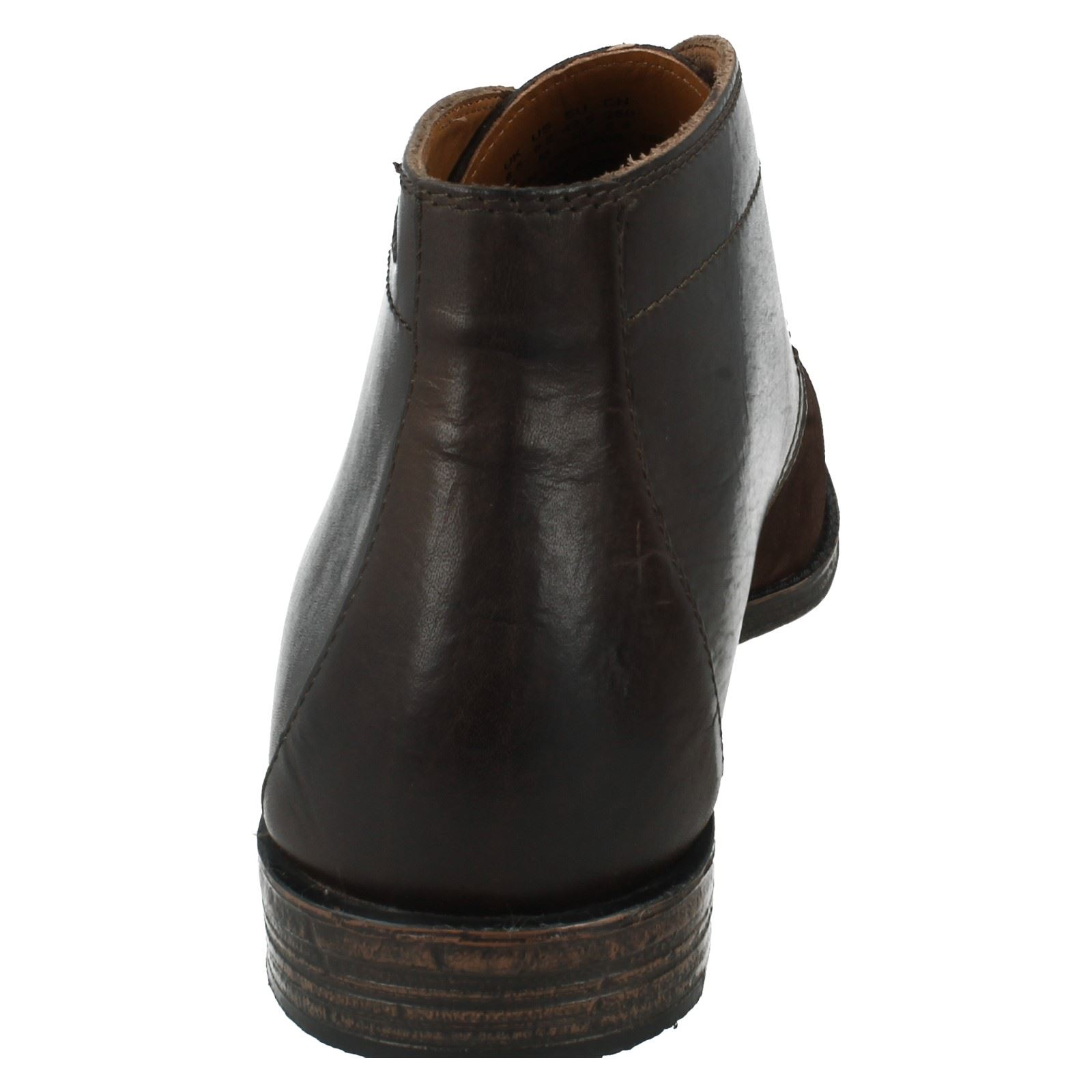 mens clarks smart leather boots style hawkley rise ebay