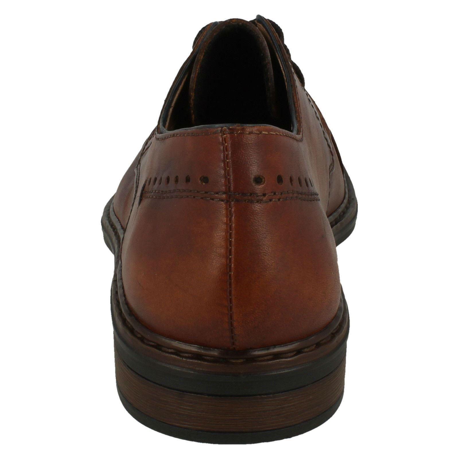 Herren Rieker 17617 Lace Up Leder Smart Formal Toe Cap Schuhes 17617 Rieker 0ad3f9