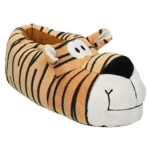 Junior Spot On Fun Novelty X2074 Tiger Character Slippers ~ K