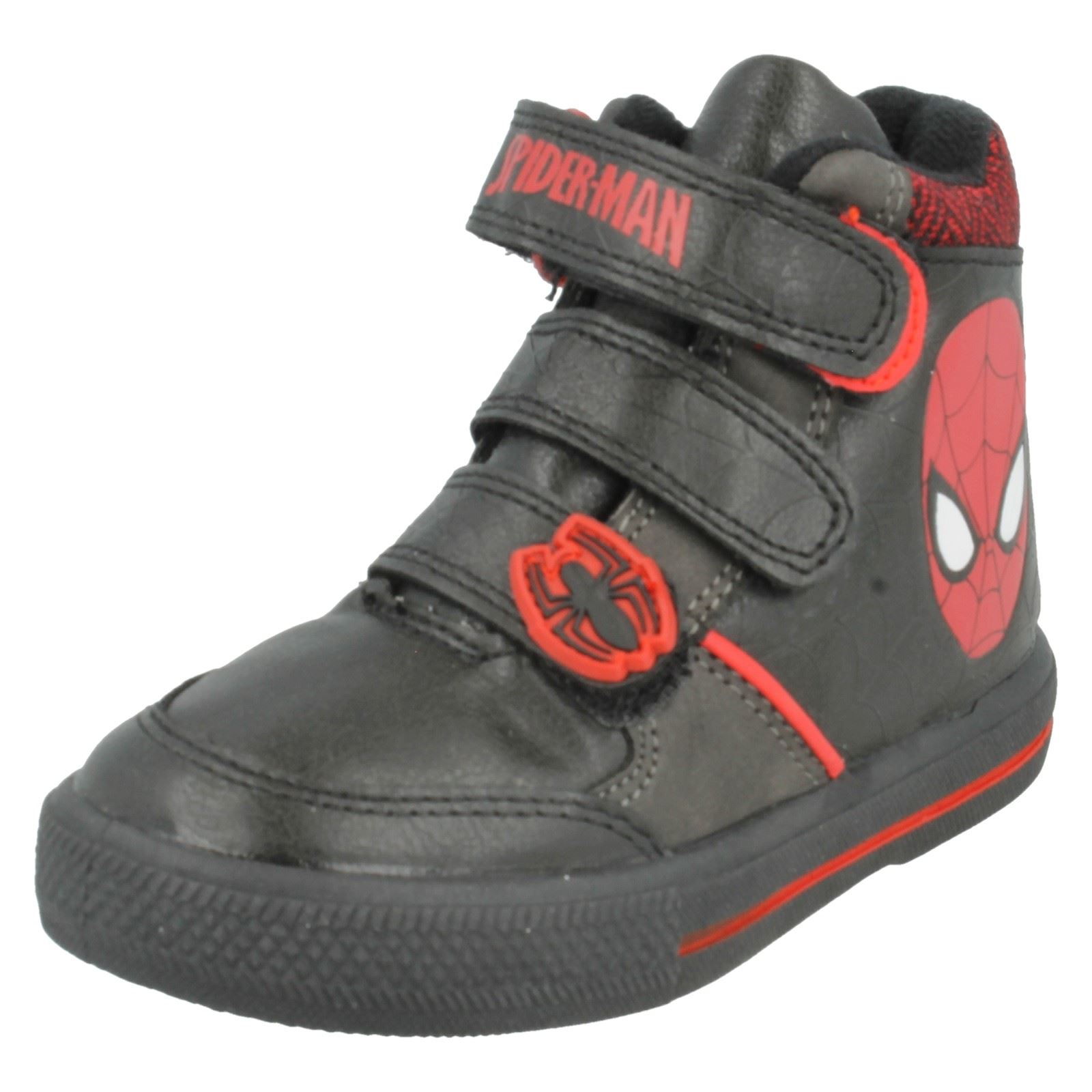 Boys Spiderman Casual Boots Label Crawl