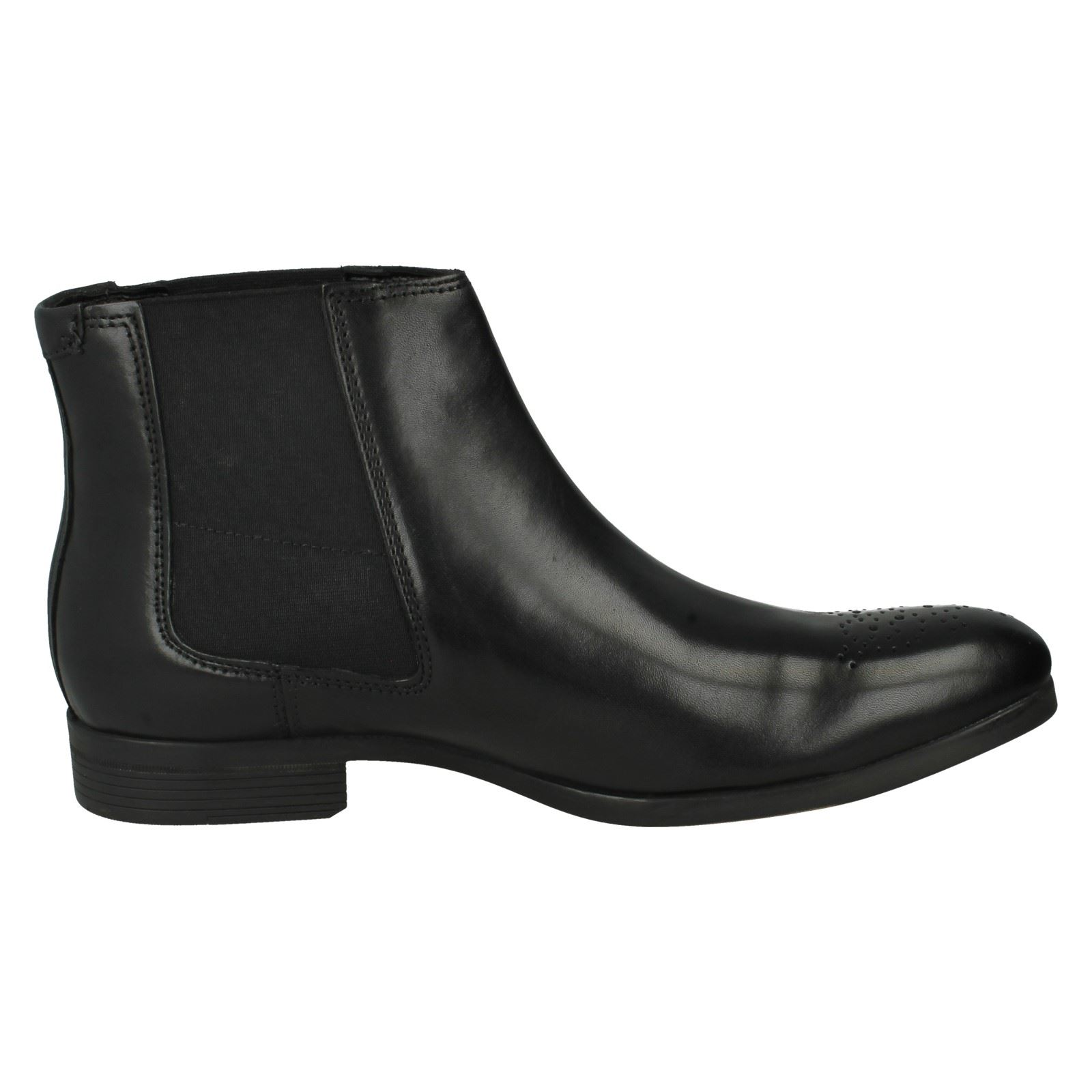 Uomo Clarks Style Leder Ankle Stiefel The Style Clarks - Gilmore Chelsea 985430