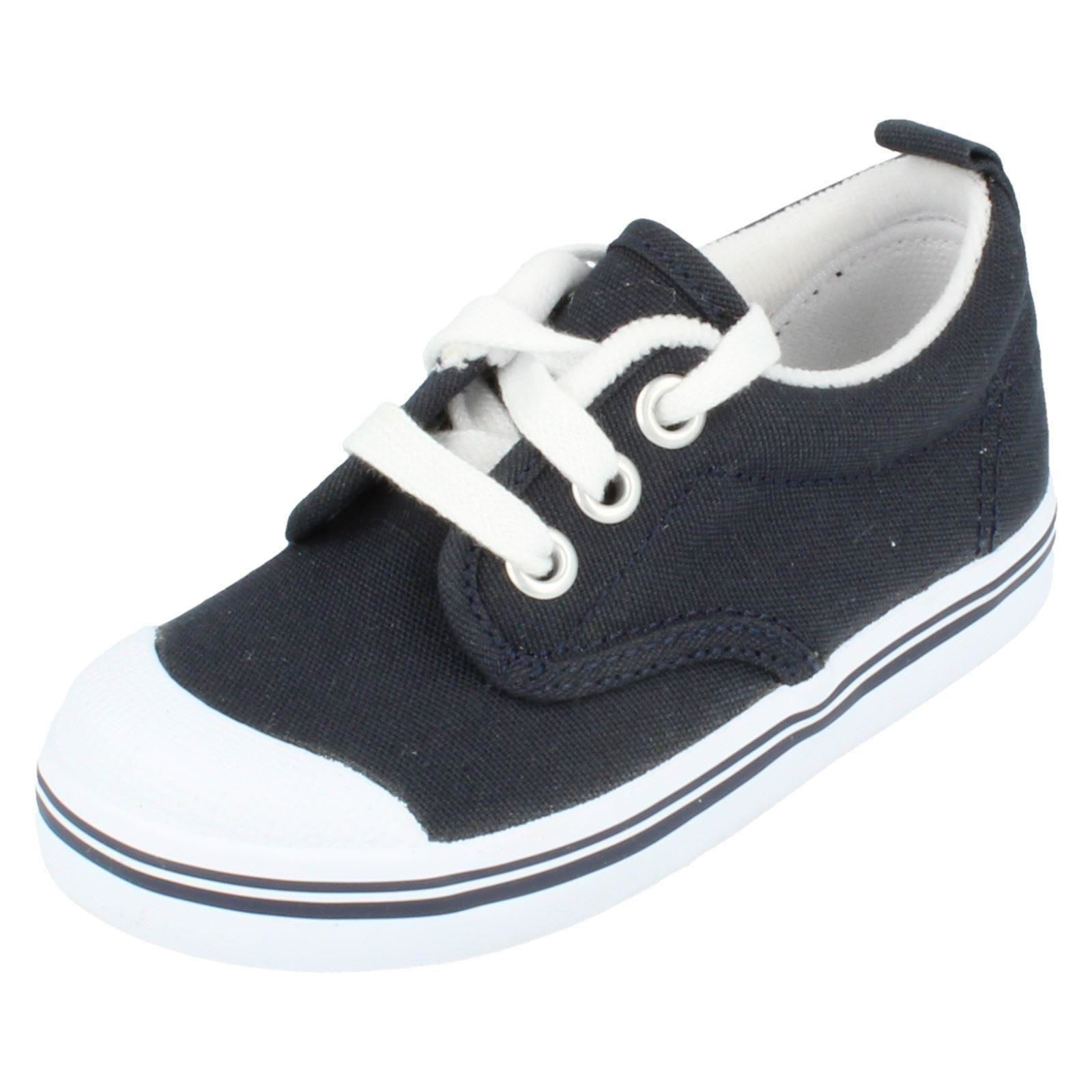 Boys Keds Navy Canvas Shoes Scooter