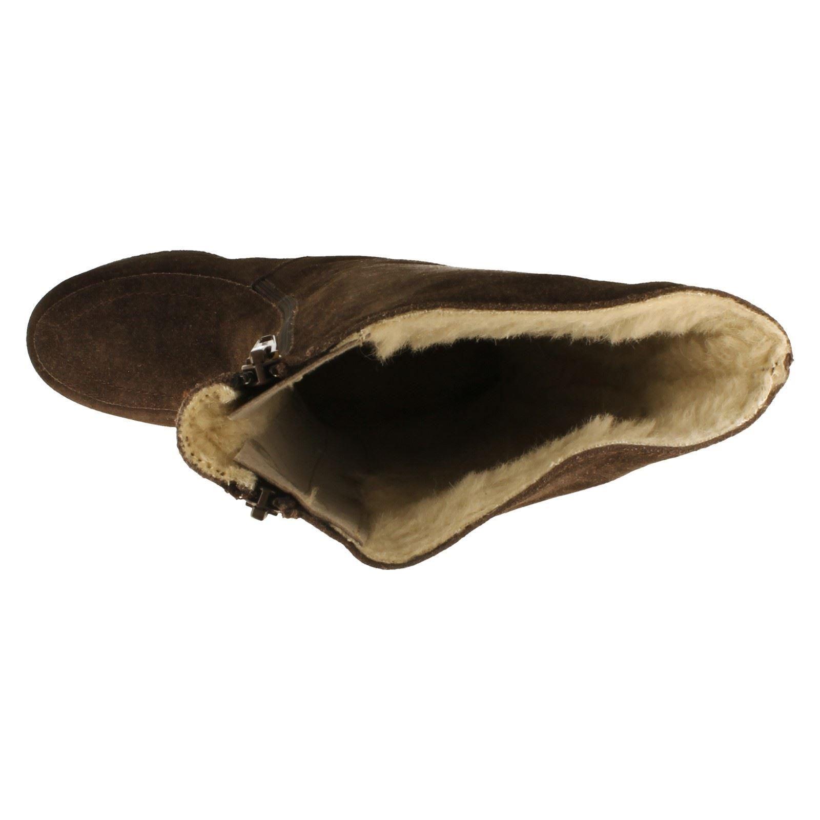 Señoras doble cálidas botas Draper forrado de doble Señoras cremallera estilo Sheepskins-W 880cc0