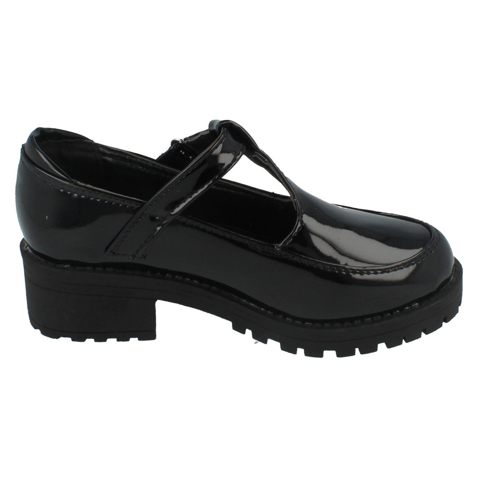 Girls Cool 4 School T Bar Heeled Shoe Label H3069 ~ N
