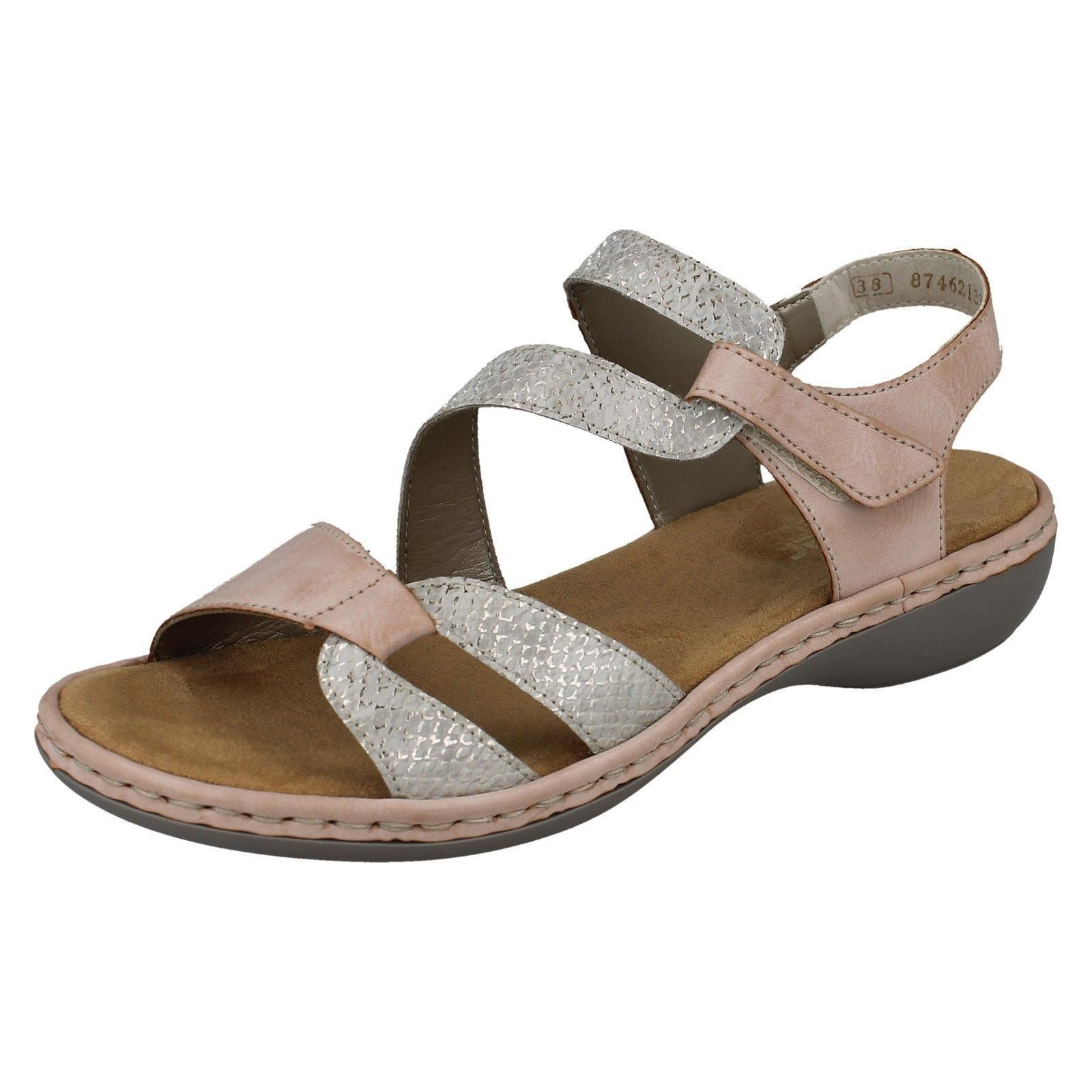 Ladies Rieker 65969 Synthetic Strappy Casual Sandals
