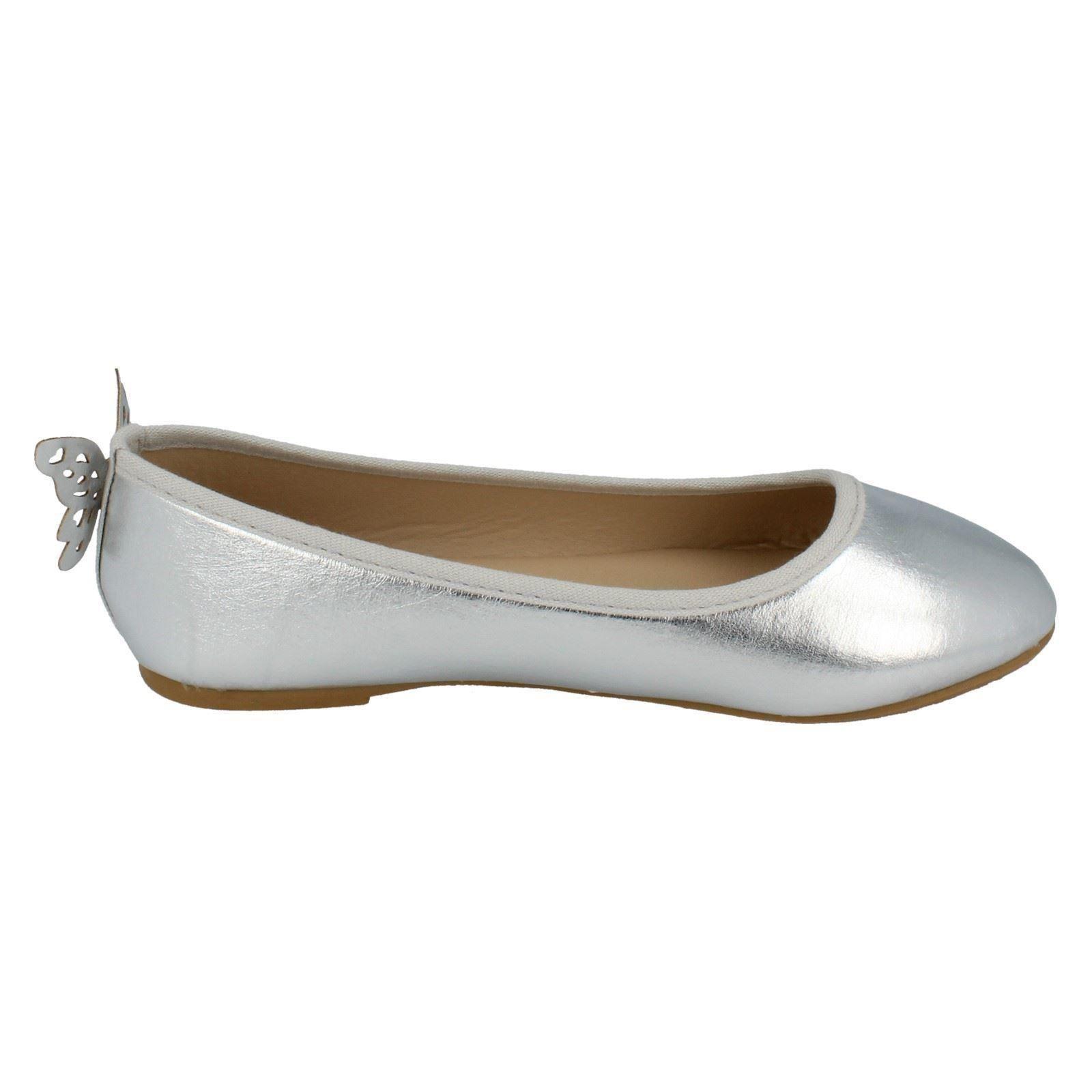 Girls Spot On Slip On Flat Shoes H2430 - D