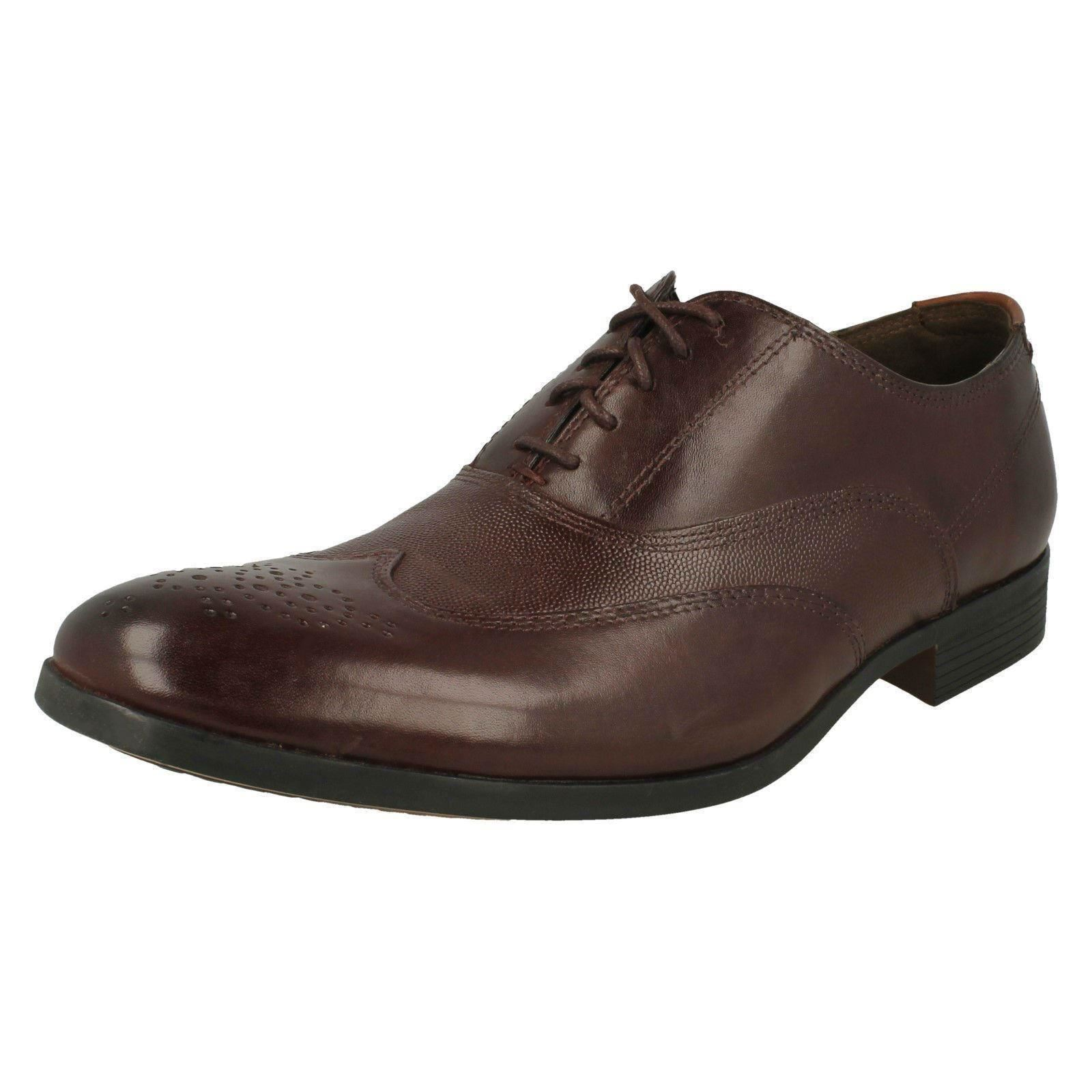 Herren Clarks Leder Smart Lace Up Formal Schuhes Label - Gilmore Wing 1cd540