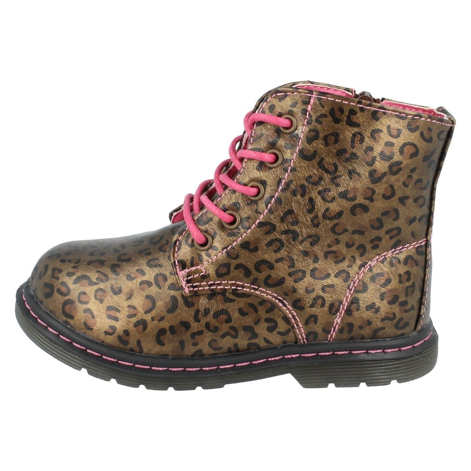 Girls Spot On Ankle Boots Infant Style - H4109