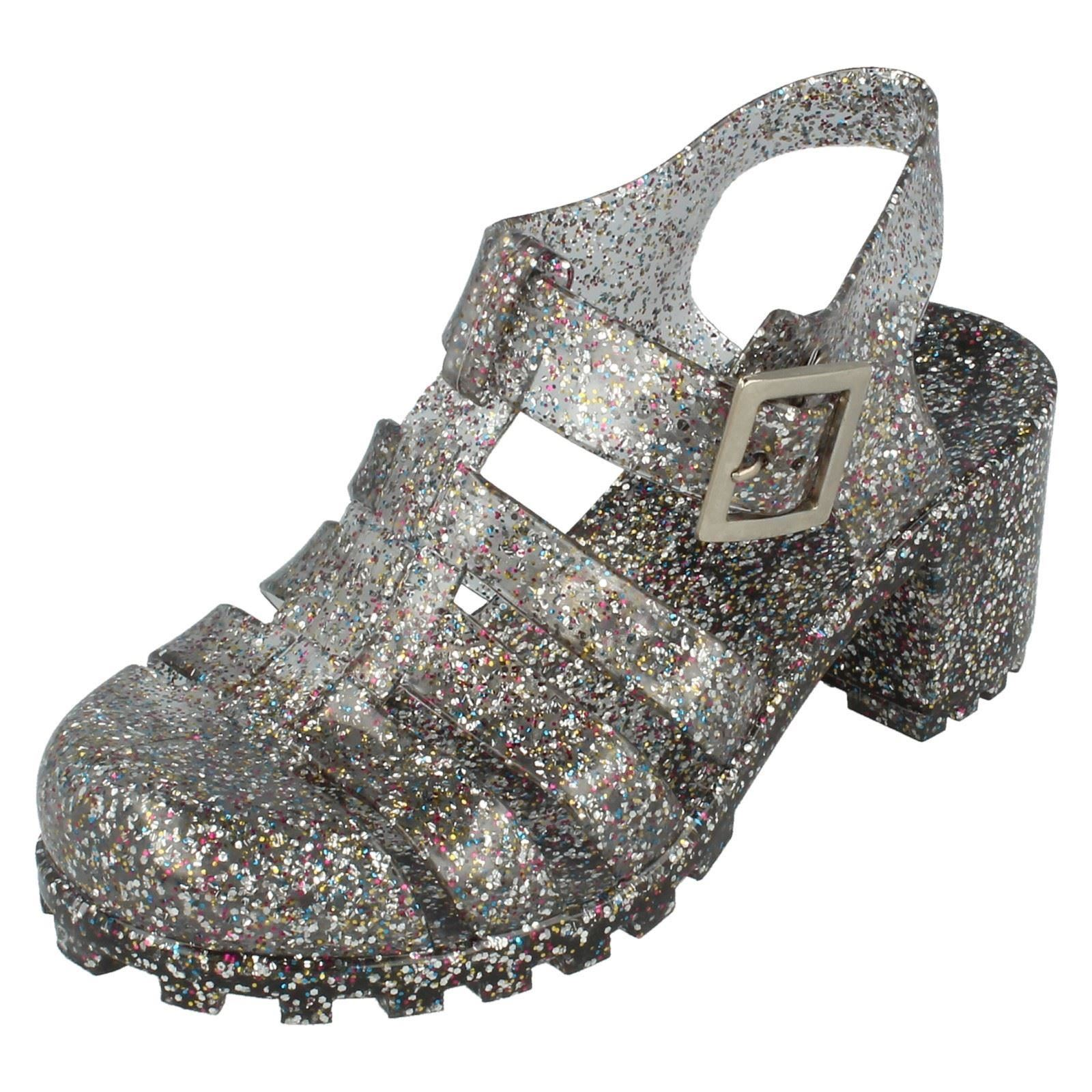 Girls Spot On Retro Jelly Shoes - H3025 ~ N