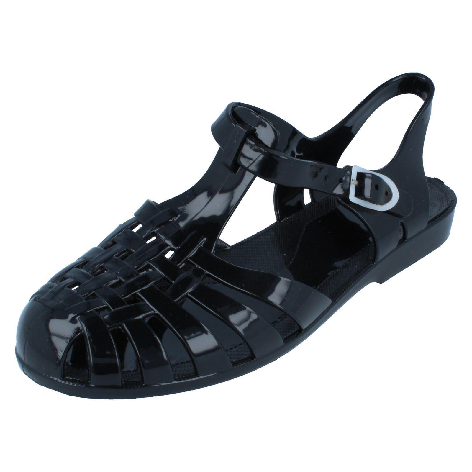 Zapatos señoras de punto en goma F0711