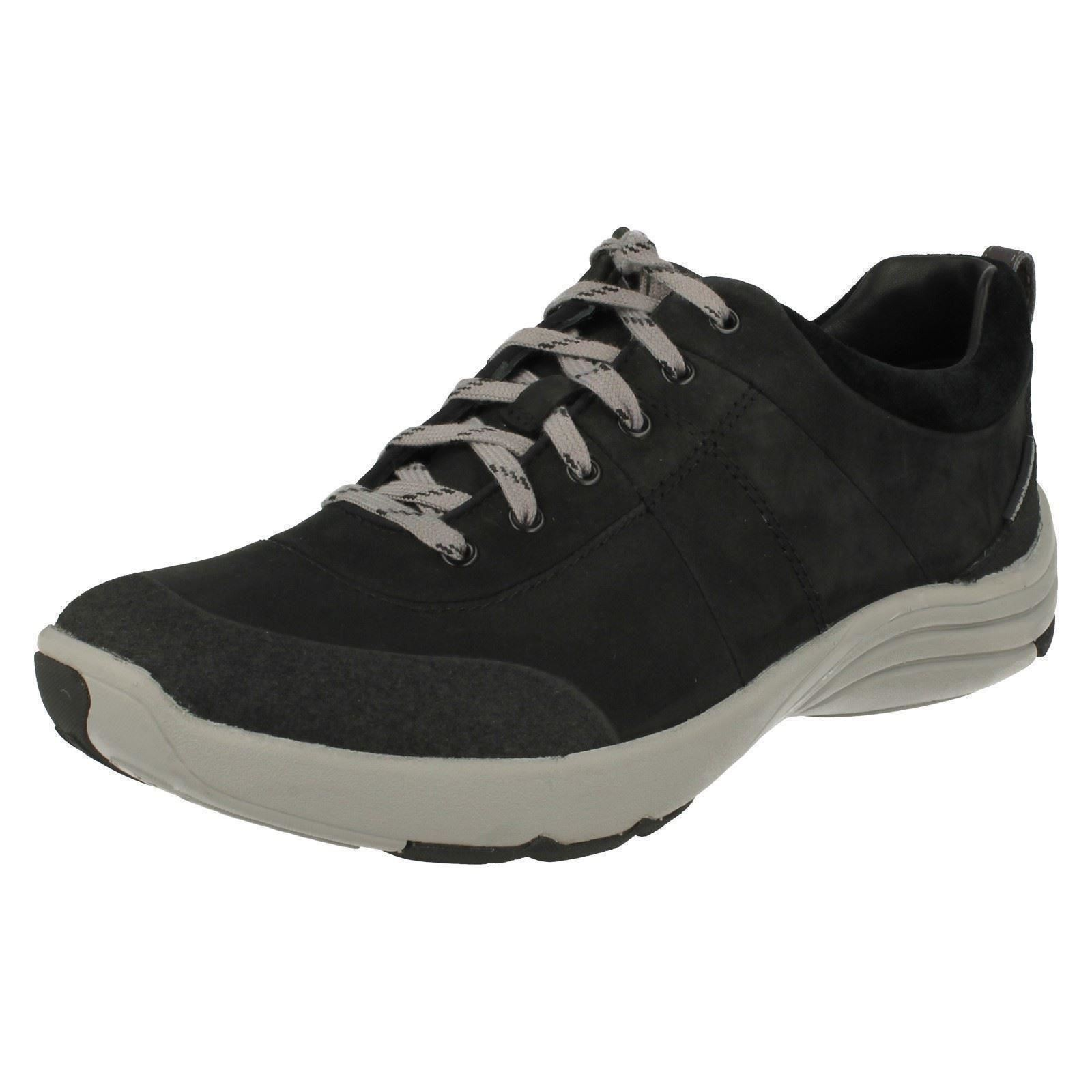 5085cffd0 Clarks Wave Andes - Black Nubuck Womens Trainers 3 UK