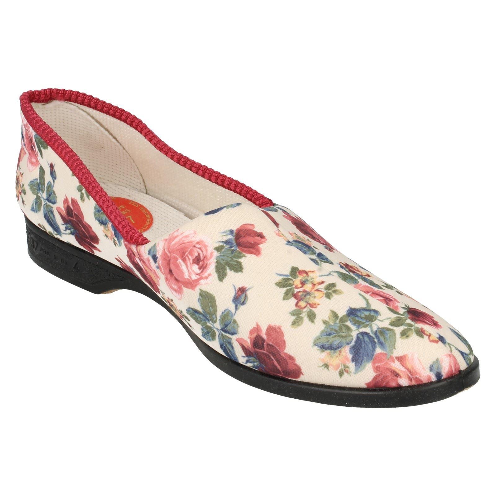 Señoras ladylove Floral Zapatillas Etiqueta Garden Print