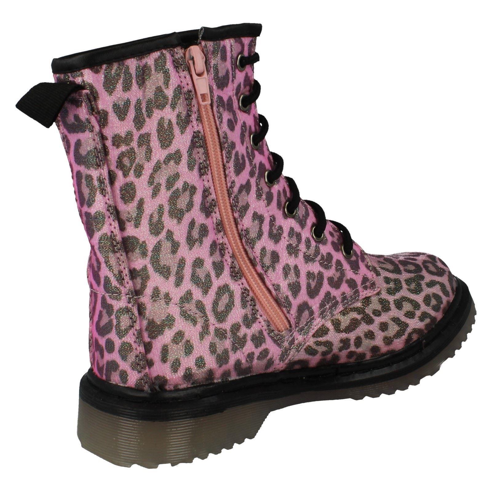Niñas Punto en Estampado de Leopardo Botas H5028