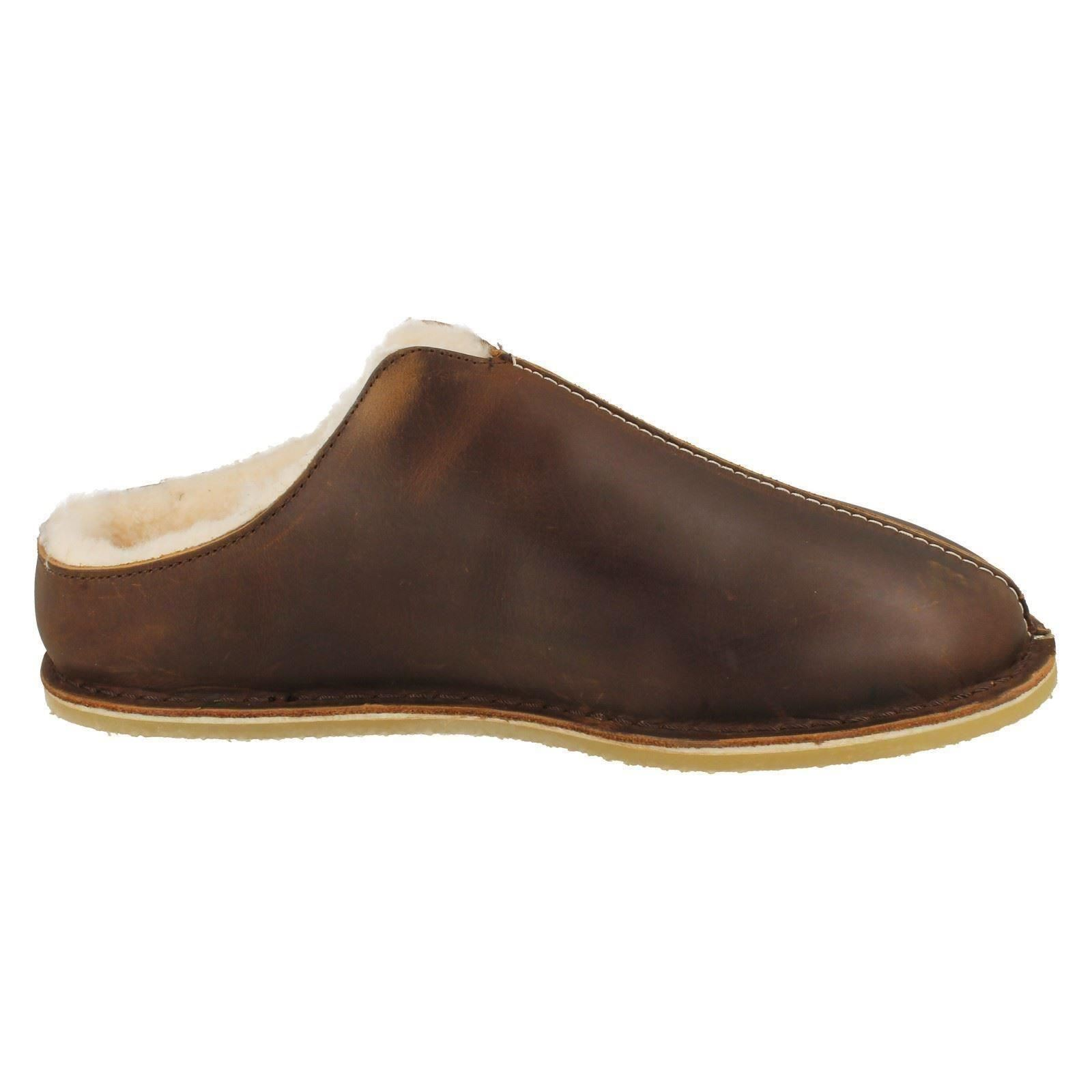 Men's Clarks Casual Slip On Slippers Label - Kite Stitch