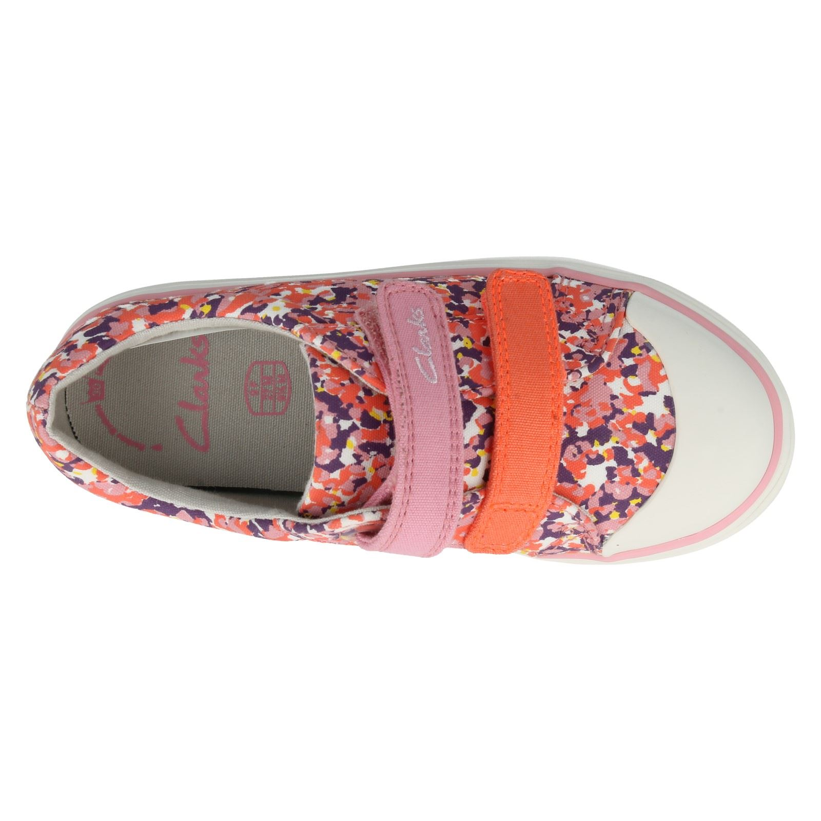 Girls Clarks Canvas Shoes The Style Brill Ice