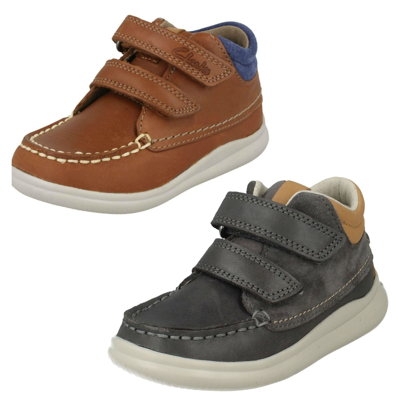 57cc3710424431 Boys First Shoes by Clarks BOOTS Cloud Tuktu UK 6 Infant Tan (brown) F.  About this product. Picture 1 of 9 ...