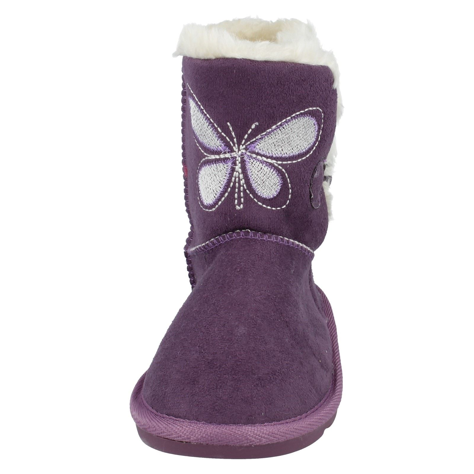 Girls Spot Boots With Butterfly Pattern H4099