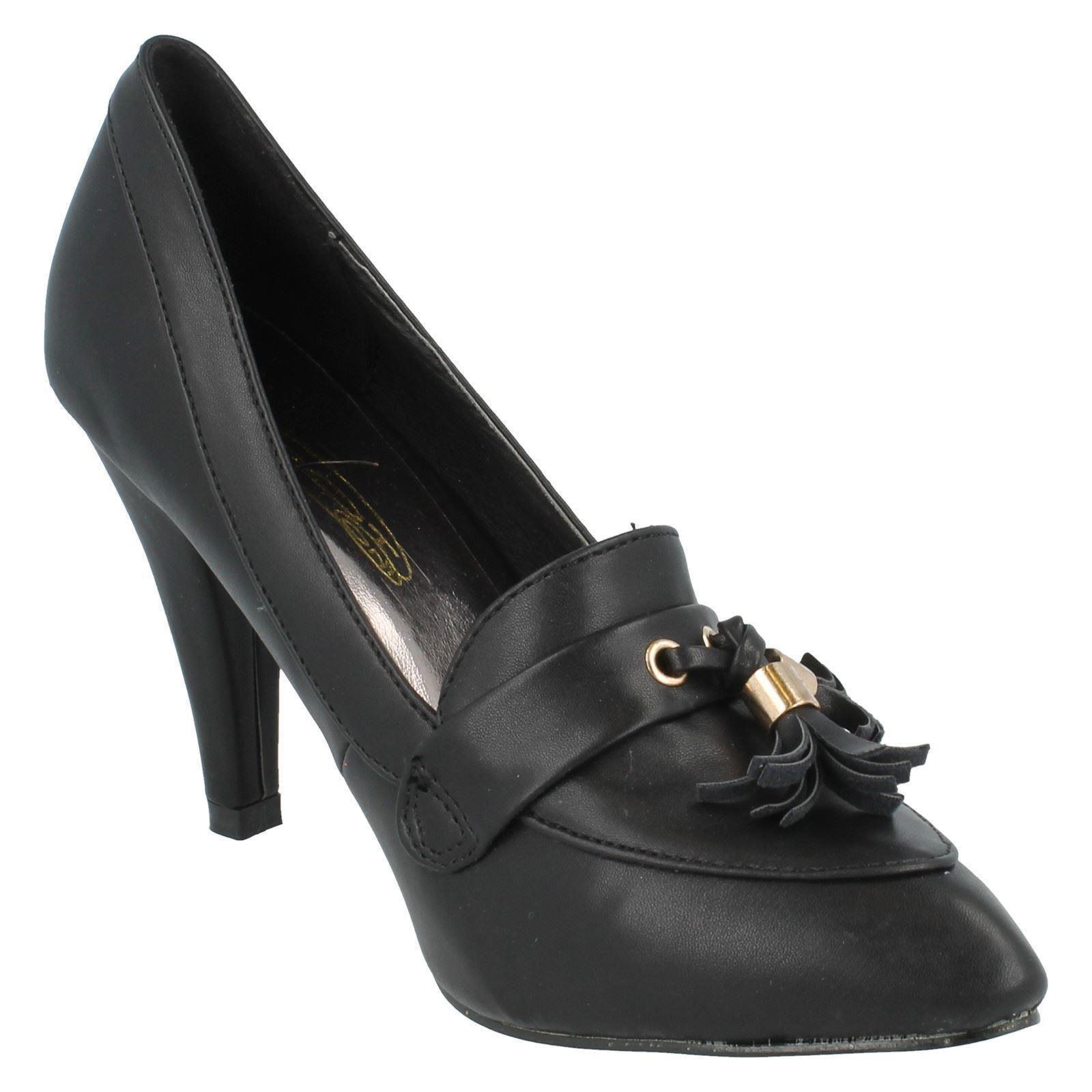 Señoras de punto en Tribunal Zapatos Estilo-f9614